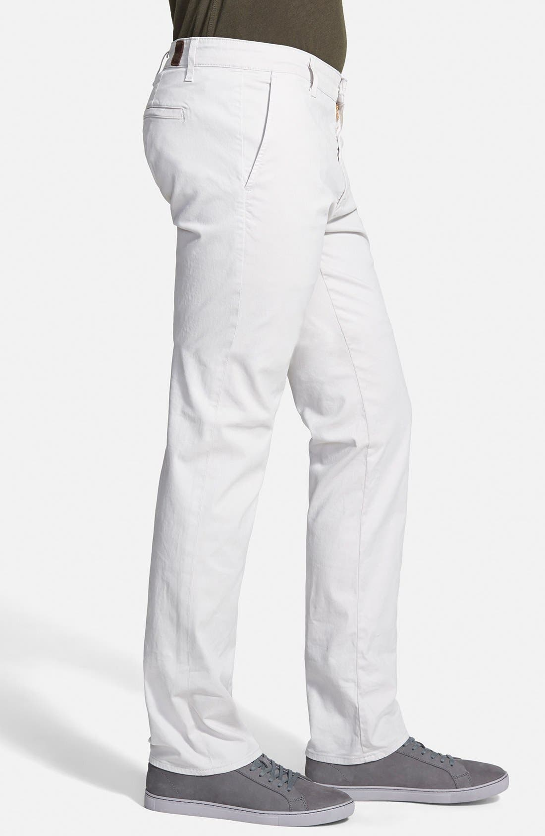 'The Lux' Tailored Straight Leg Chinos,                             Alternate thumbnail 3, color,                             060