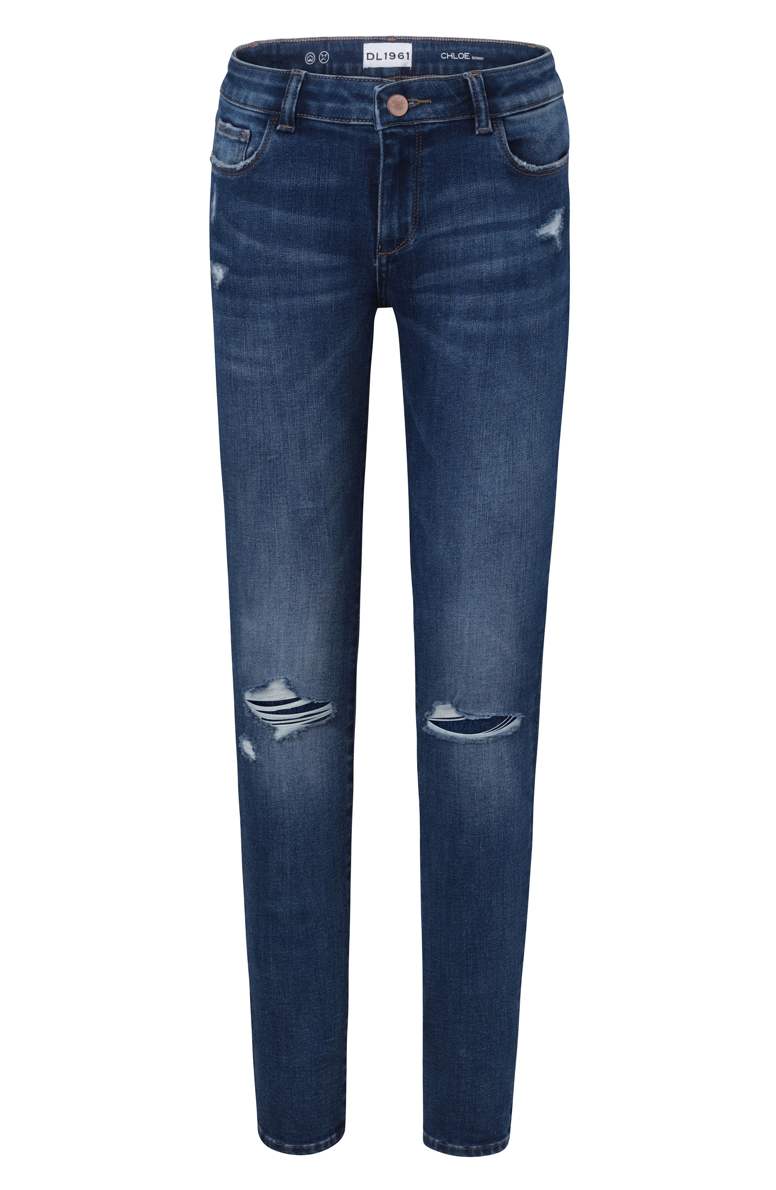 Distressed Skinny Jeans,                         Main,                         color, ROYCE