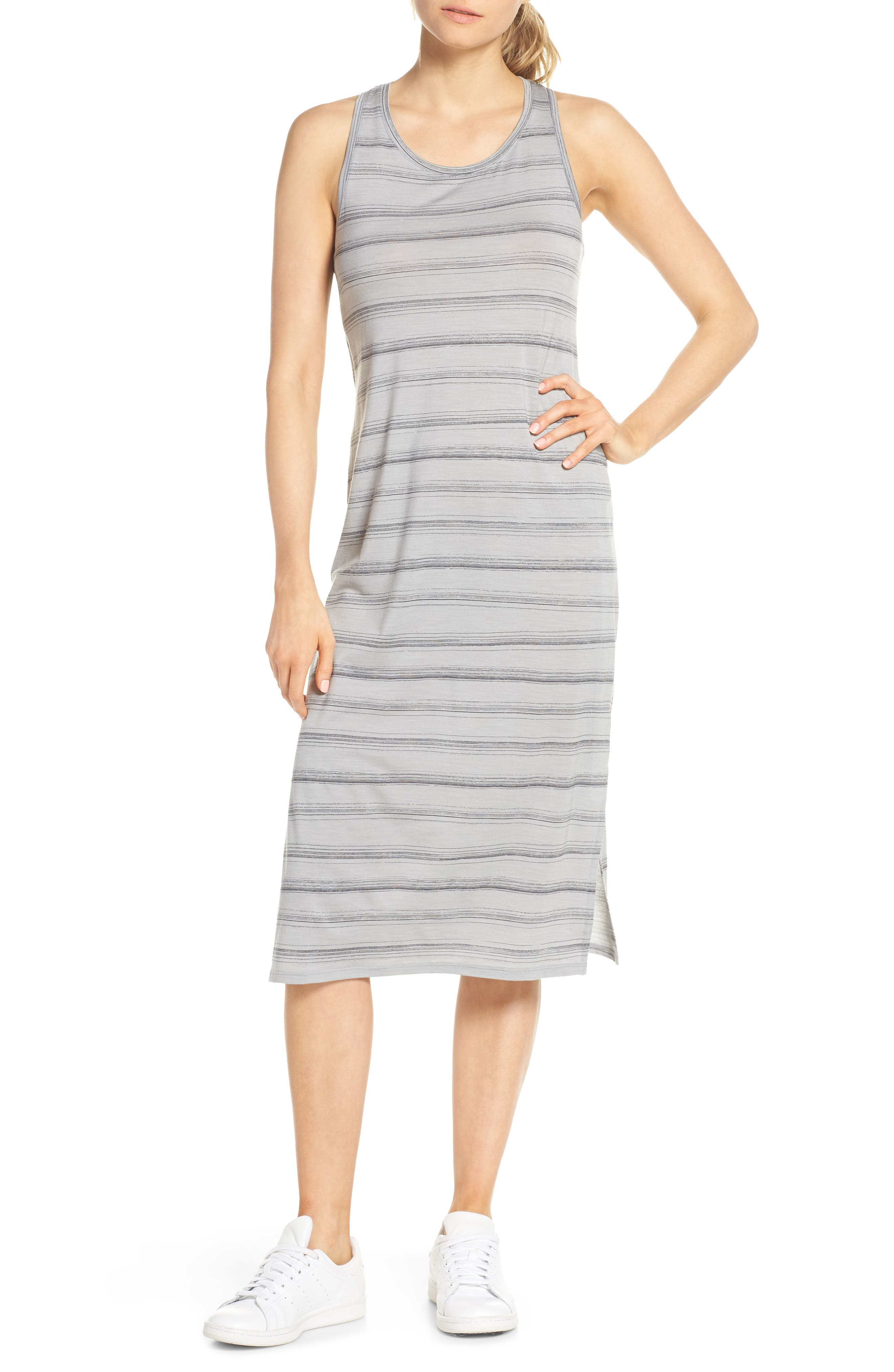 Icebreaker Yanni Cool-Lite(TM) Midi Tank Dress, Grey