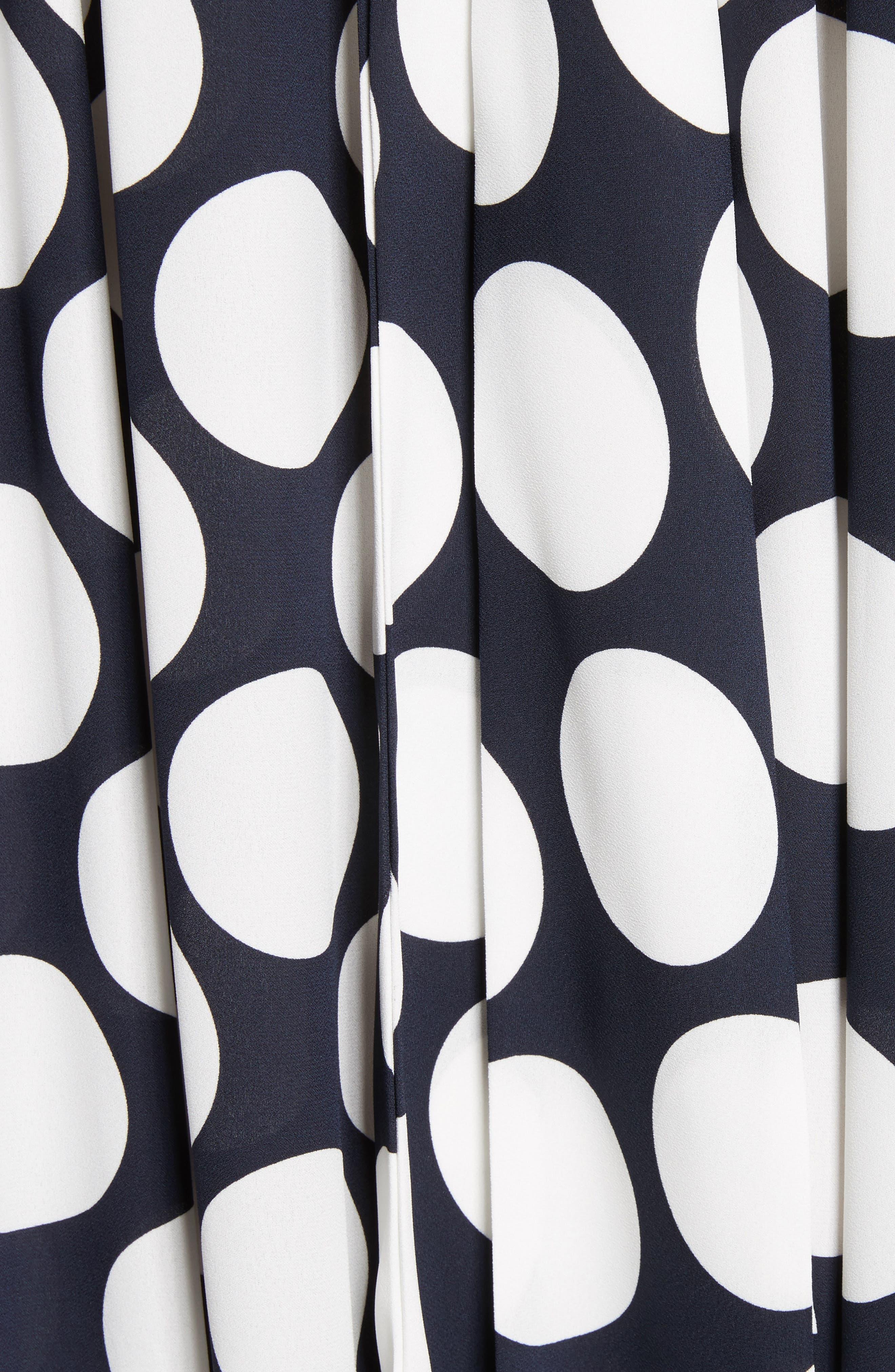 Giant Polka Dot Gathered Collar Dress,                             Alternate thumbnail 5, color,                             410