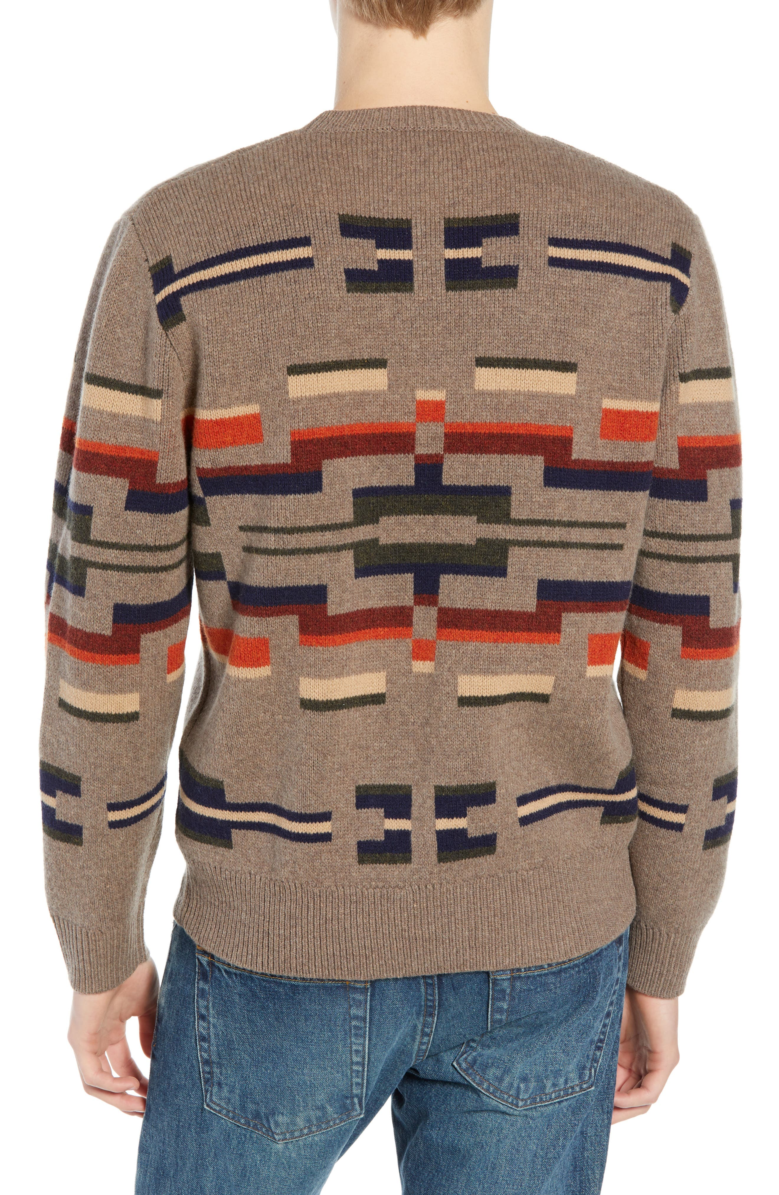 Outdoor Wool Sweater,                             Alternate thumbnail 2, color,                             MULTI NOVELTY MOTIF