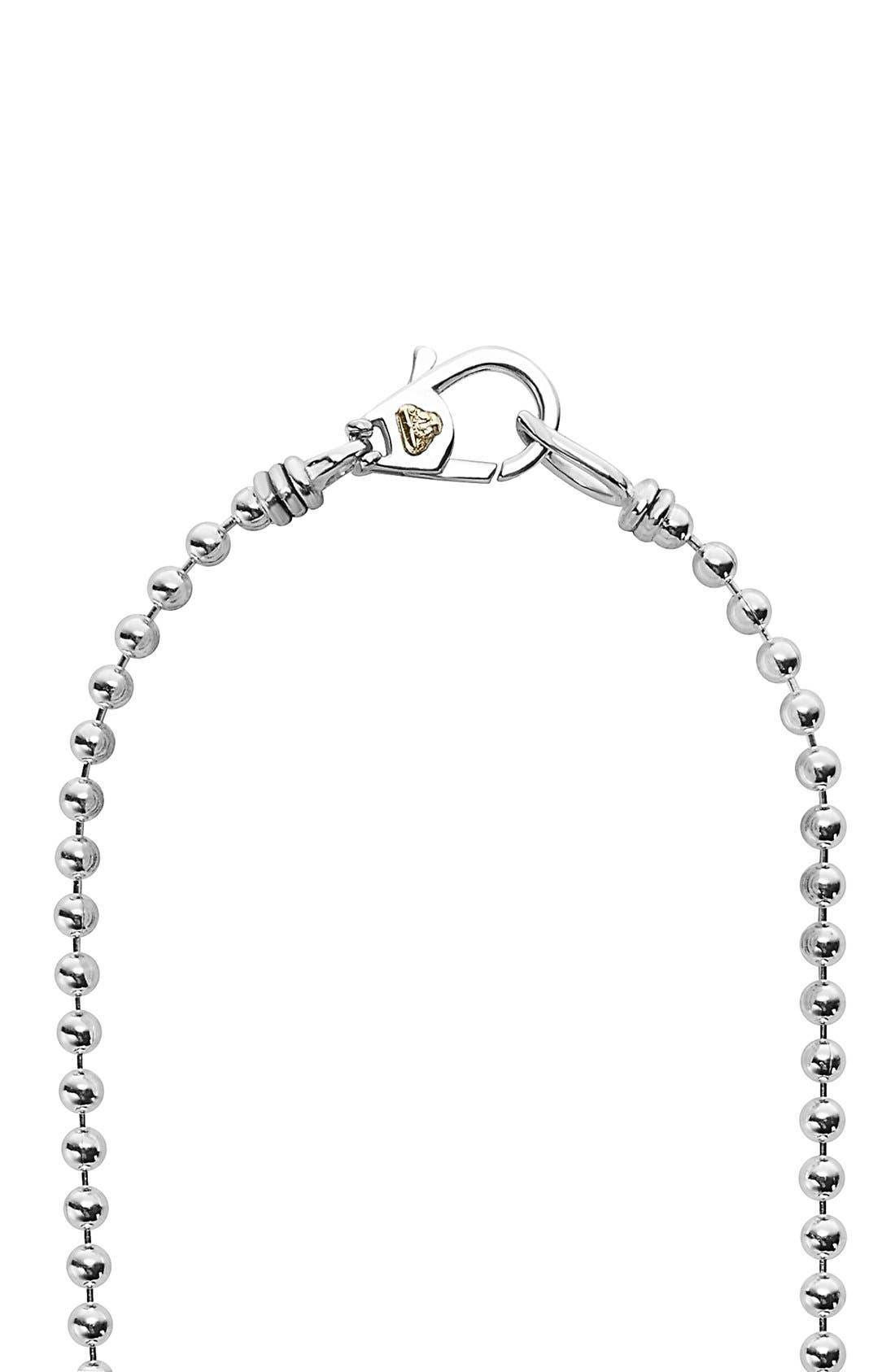 'Caviar Icon' Strand Necklace,                             Alternate thumbnail 4, color,                             SILVER/ GOLD