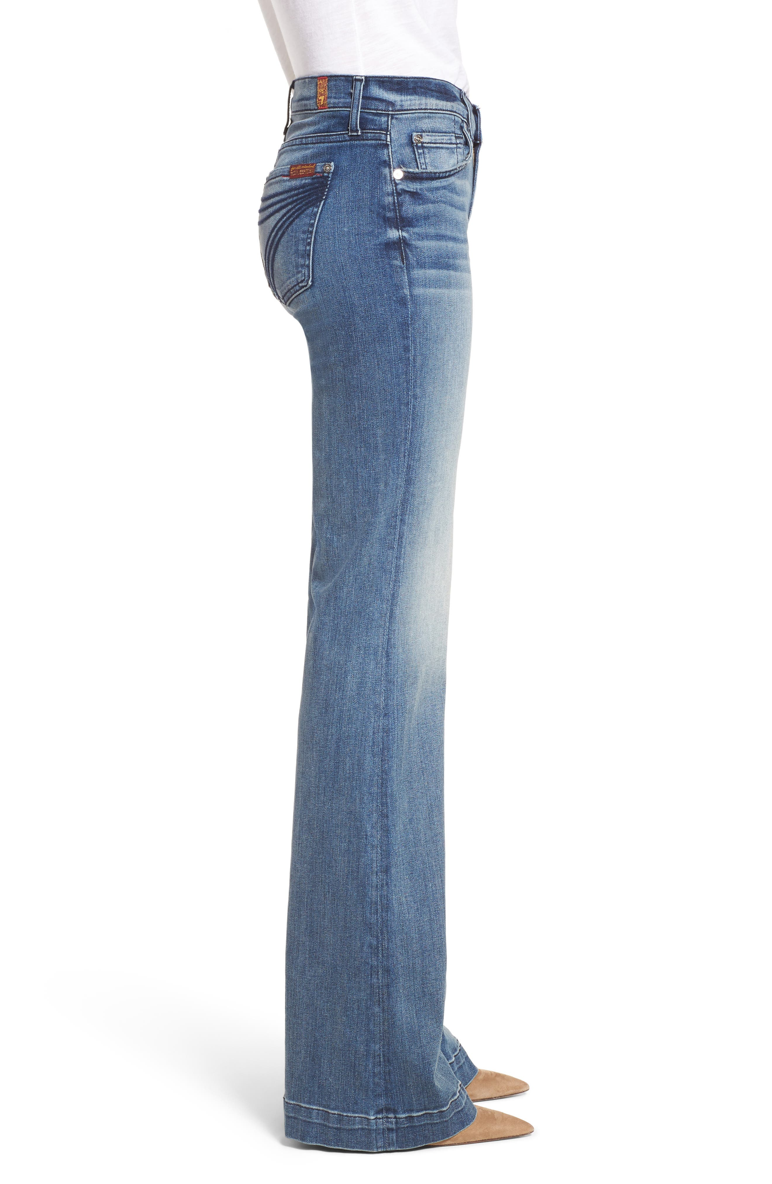 Tailorless Dojo Wide Leg Jeans,                             Alternate thumbnail 3, color,                             402