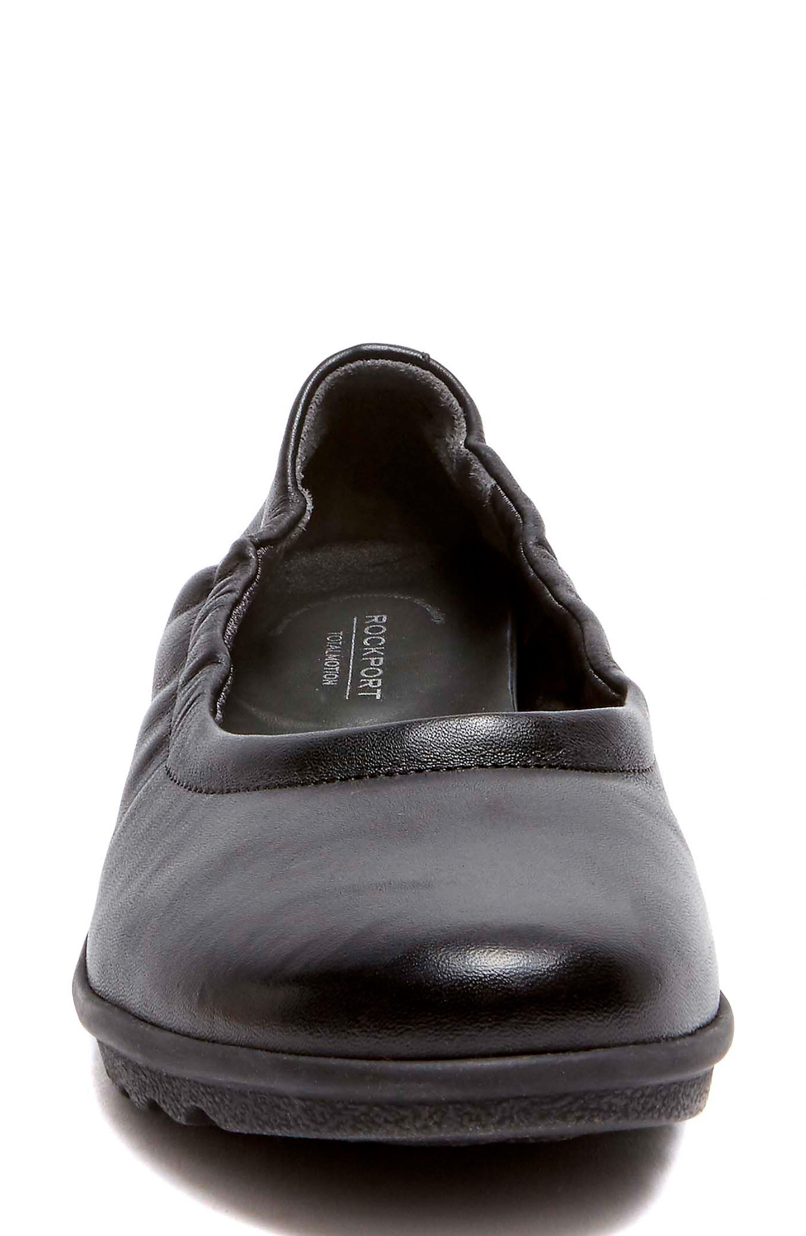 Chenole Ballet Flat,                             Alternate thumbnail 4, color,                             BLACK LEATHER