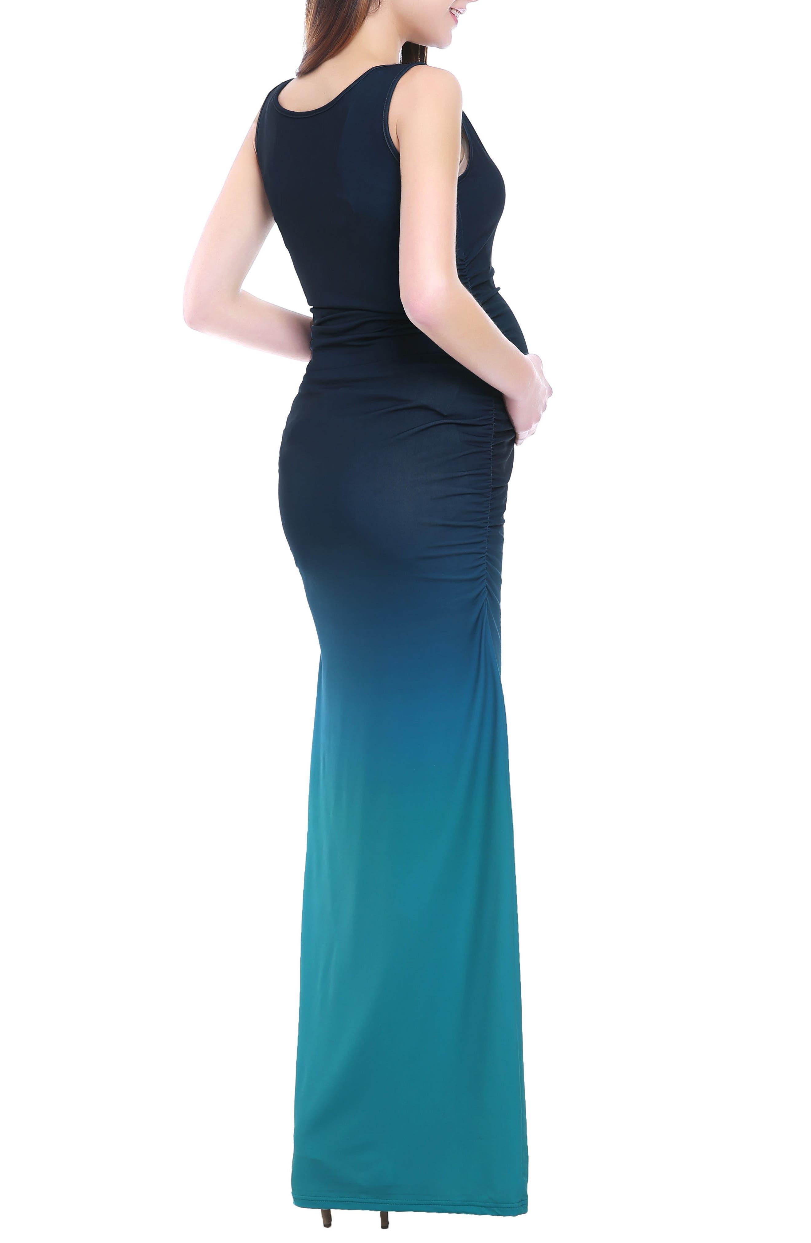 Sonia Ombré Maternity Maxi Dress,                             Alternate thumbnail 2, color,                             MULTICOLORED