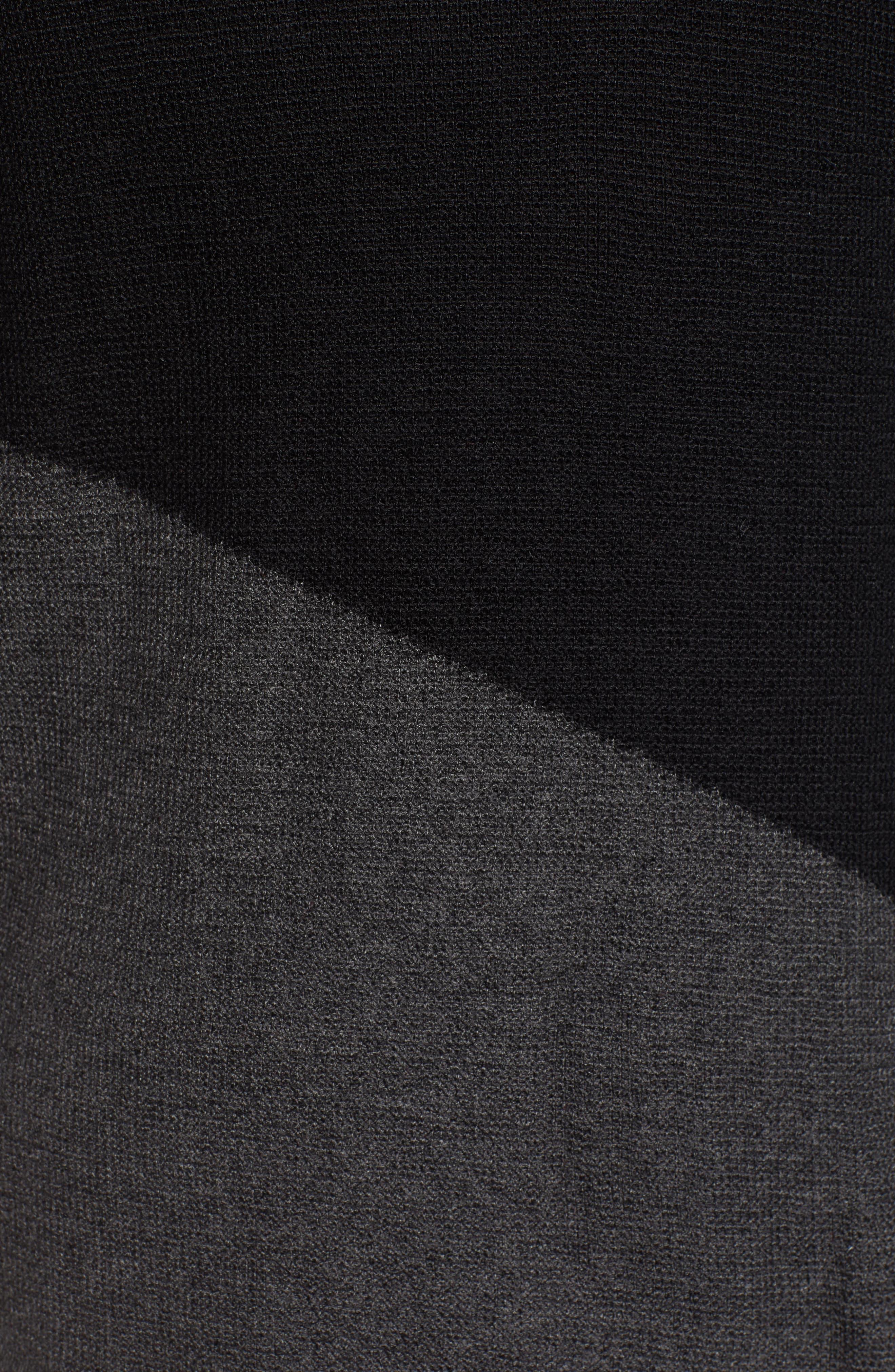 Asymmetrical Colorblock Tunic Sweater,                             Alternate thumbnail 5, color,                             RICH BLACK