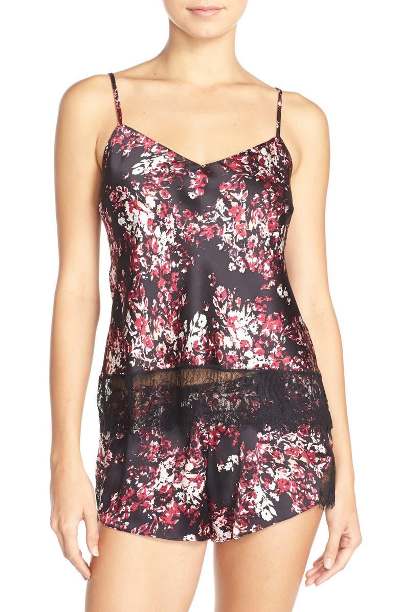 SOLY HUX Women s Sleepwear Floral Lace Trim Satin Cami