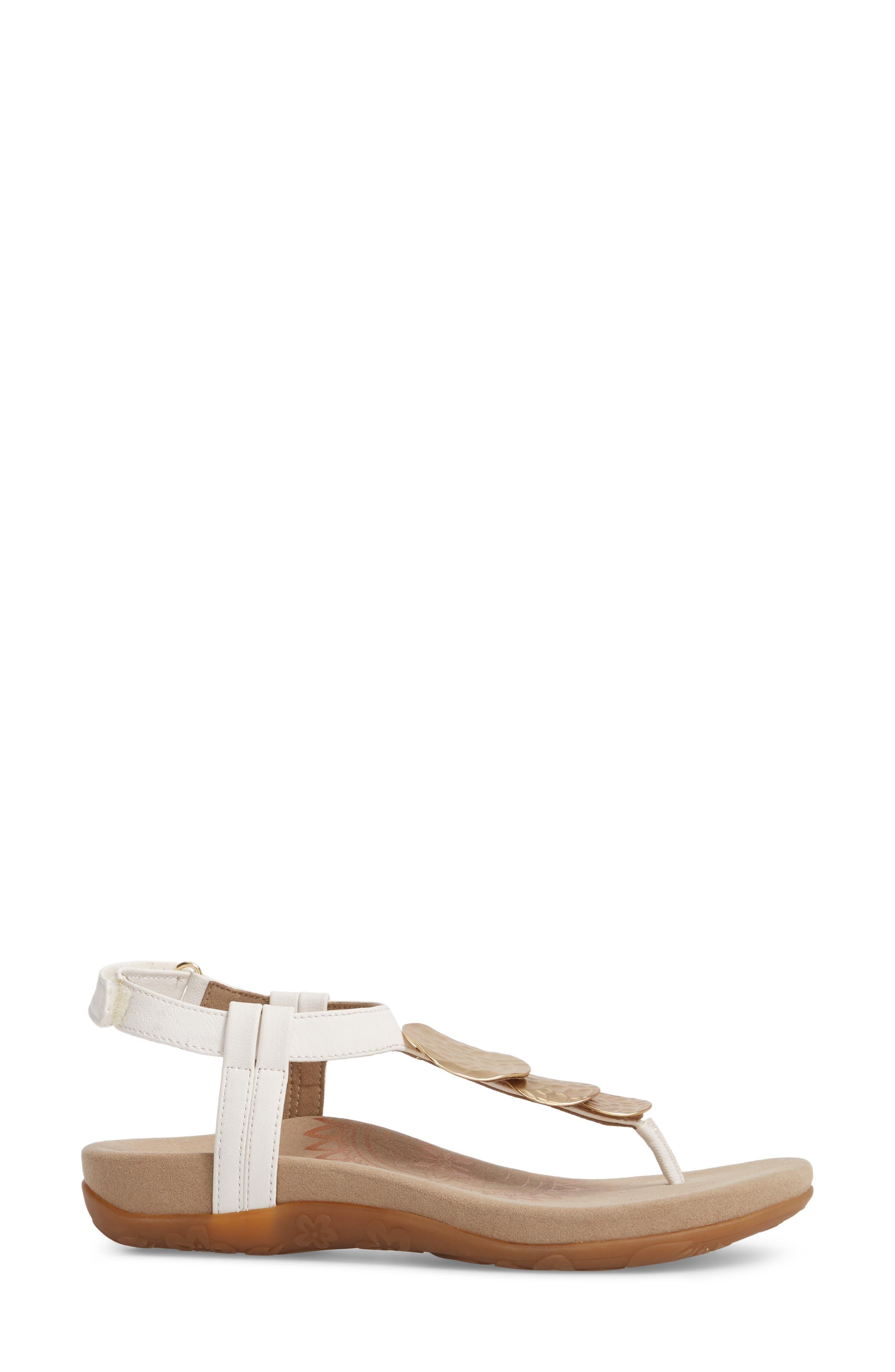 Olive T-Strap Sandal,                             Alternate thumbnail 8, color,