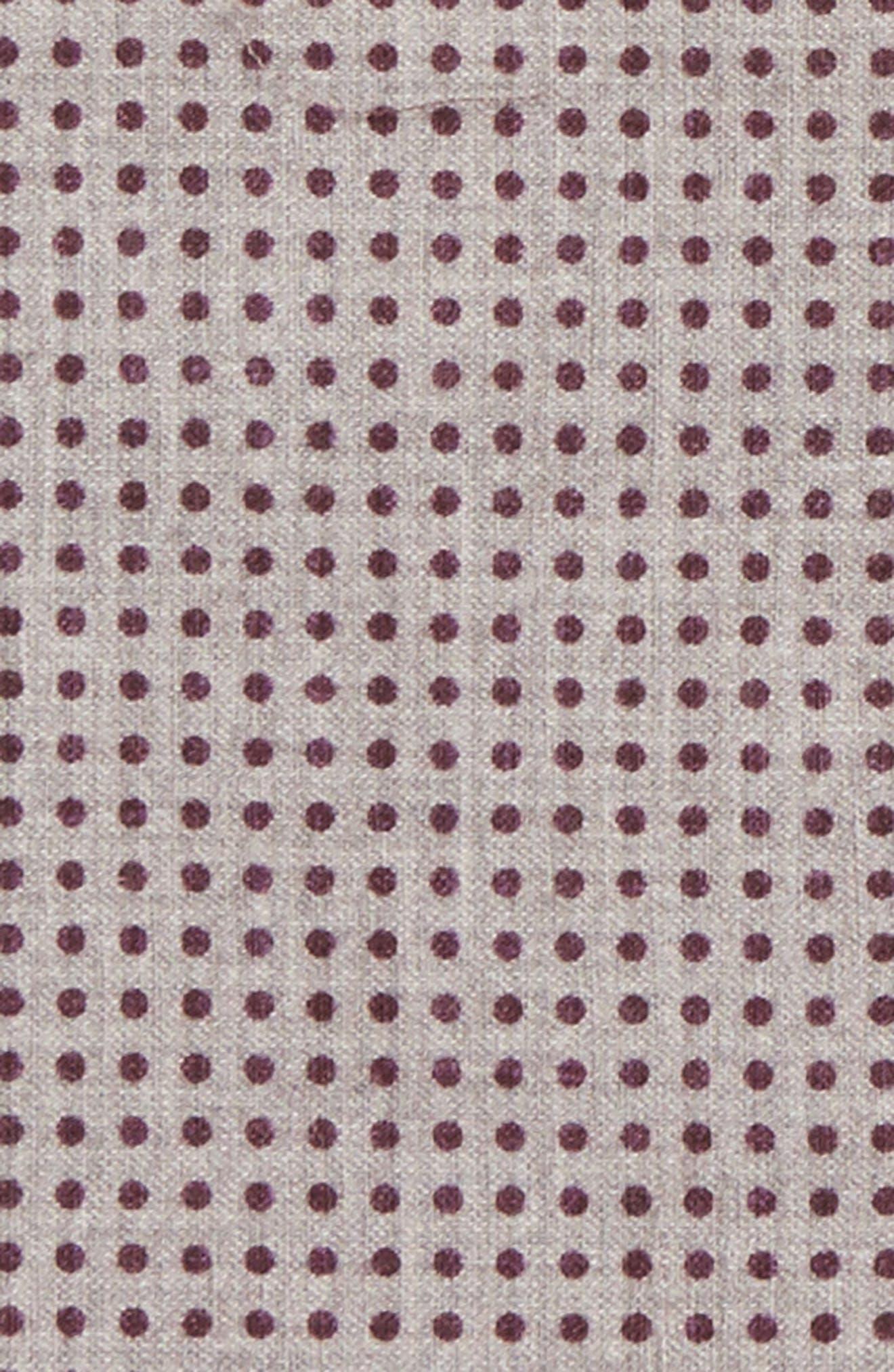 Dot Wool & Cotton Pocket Square,                             Alternate thumbnail 9, color,