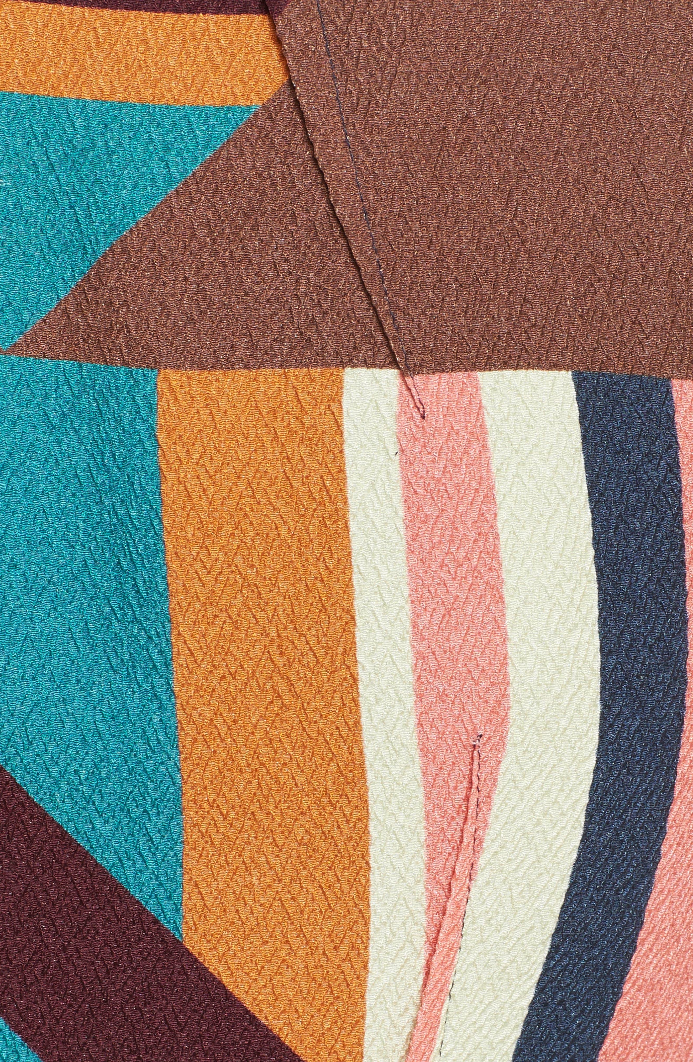Print Stretch Silk Sheath Dress,                             Alternate thumbnail 5, color,                             244