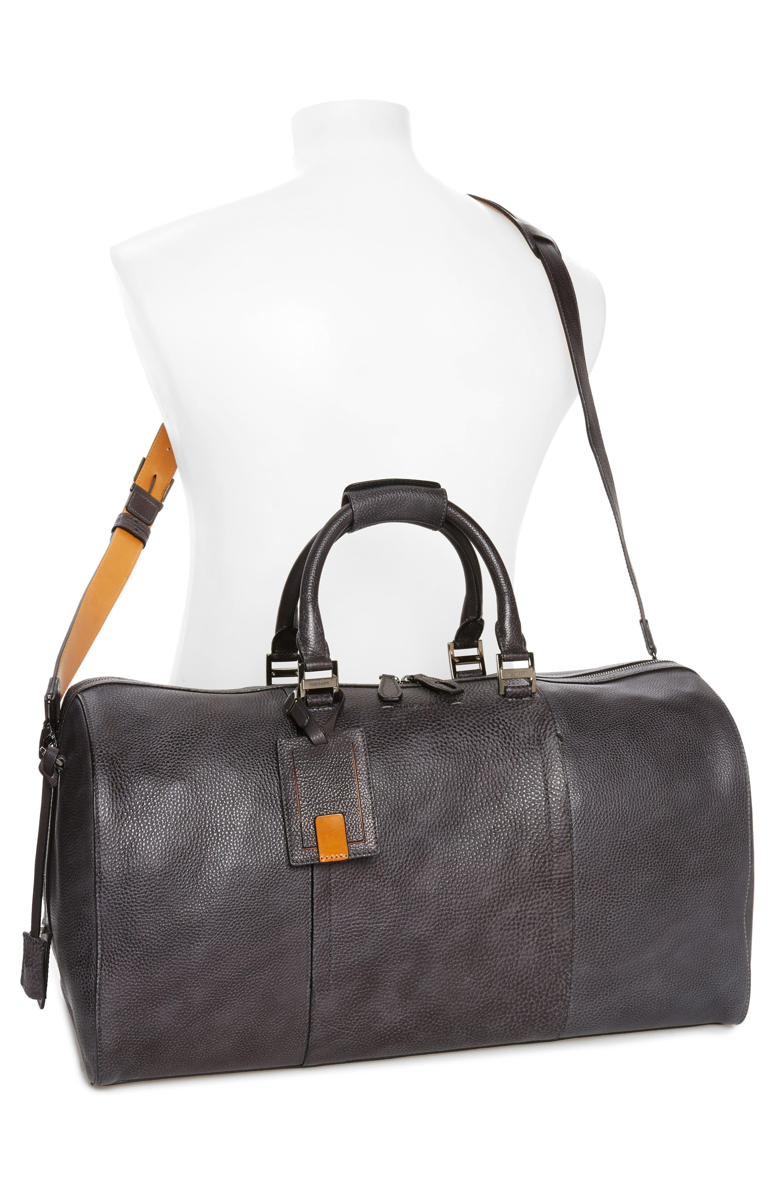 Traveler Leather Duffel Bag,                             Alternate thumbnail 2, color,                             020