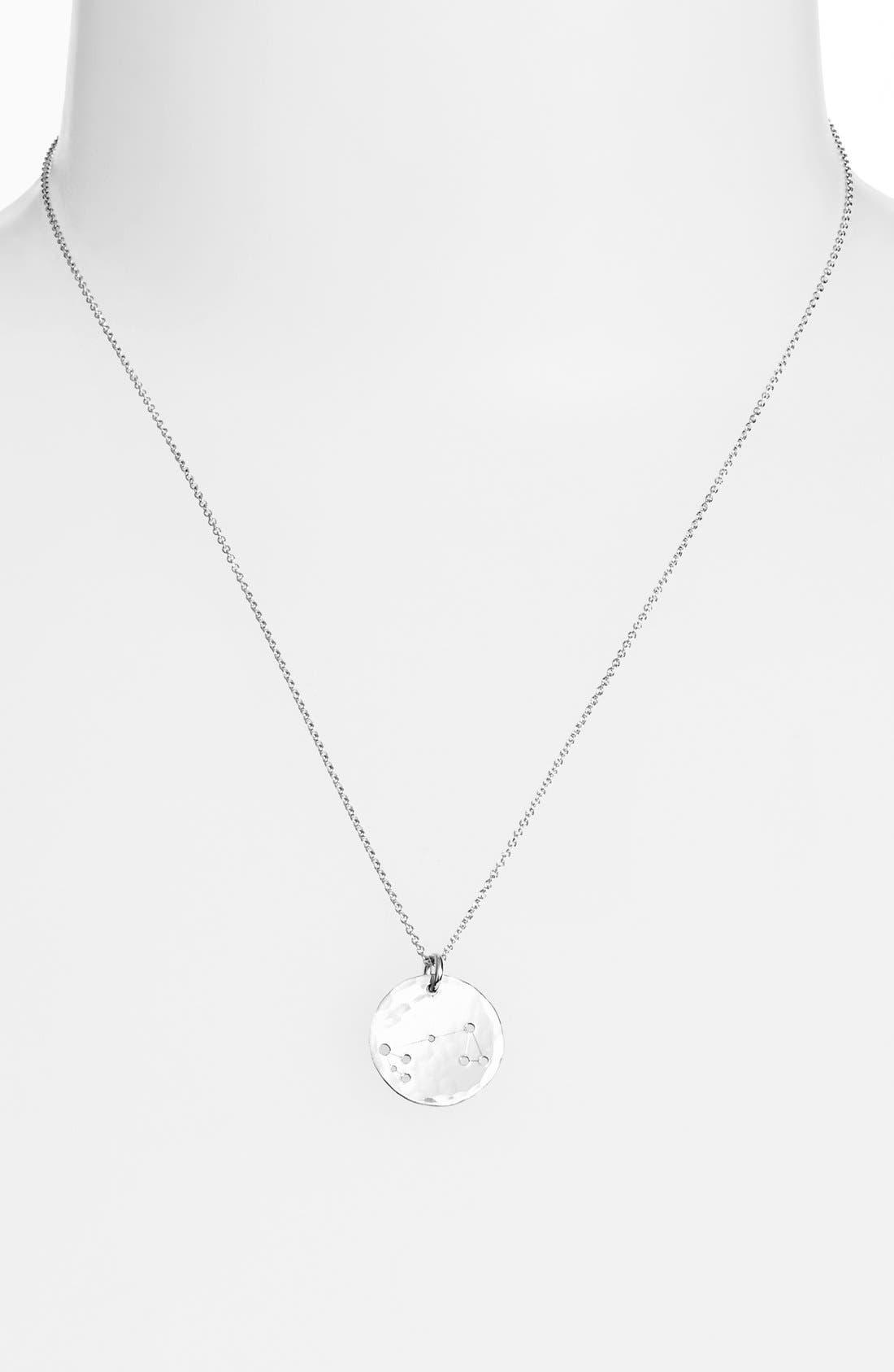 Ija 'Small Zodiac' Sterling Silver Necklace,                             Main thumbnail 7, color,
