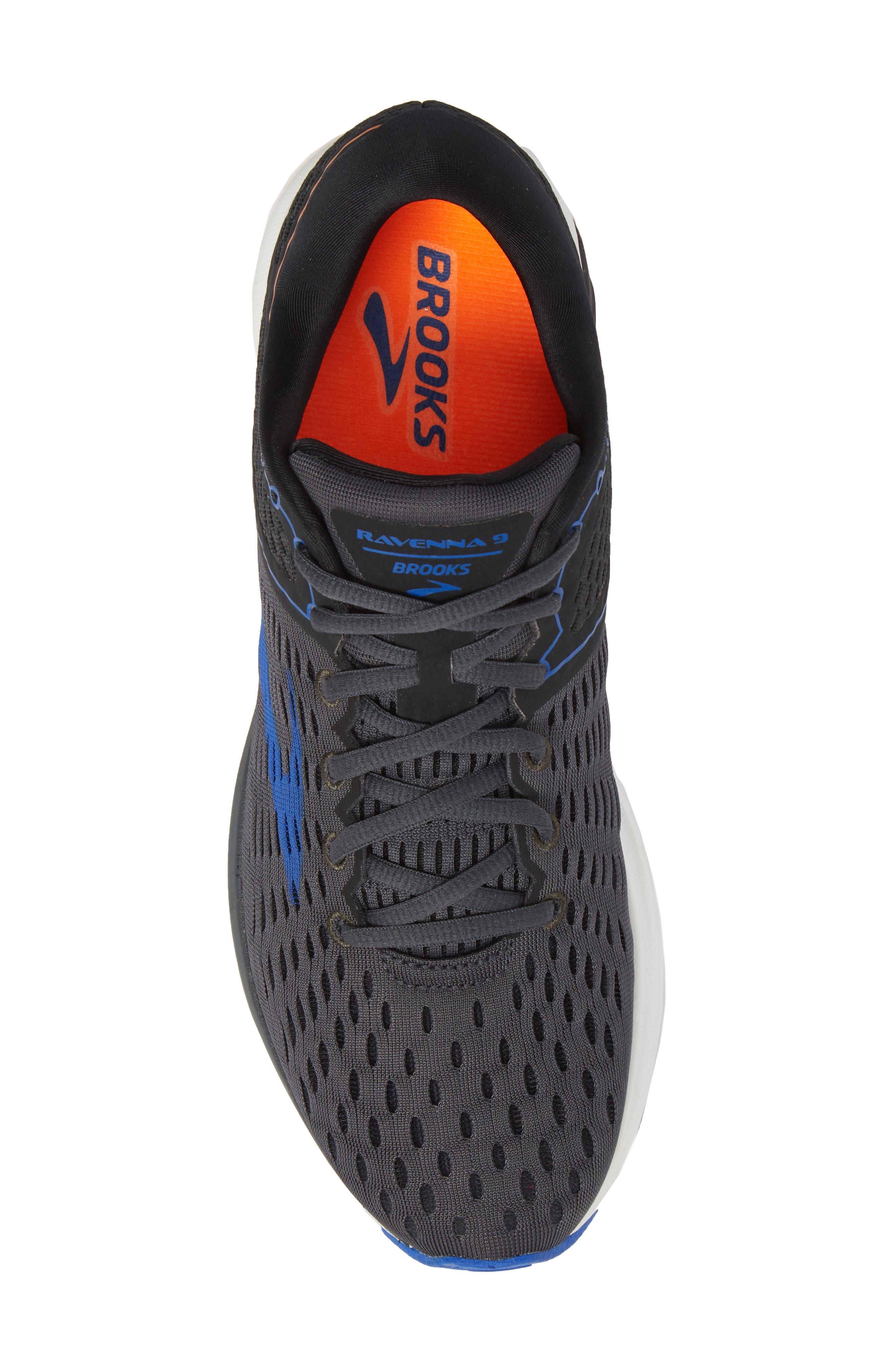 Ravenna 9 Running Shoe,                             Alternate thumbnail 5, color,                             EBONY/ BLUE/ ORANGE