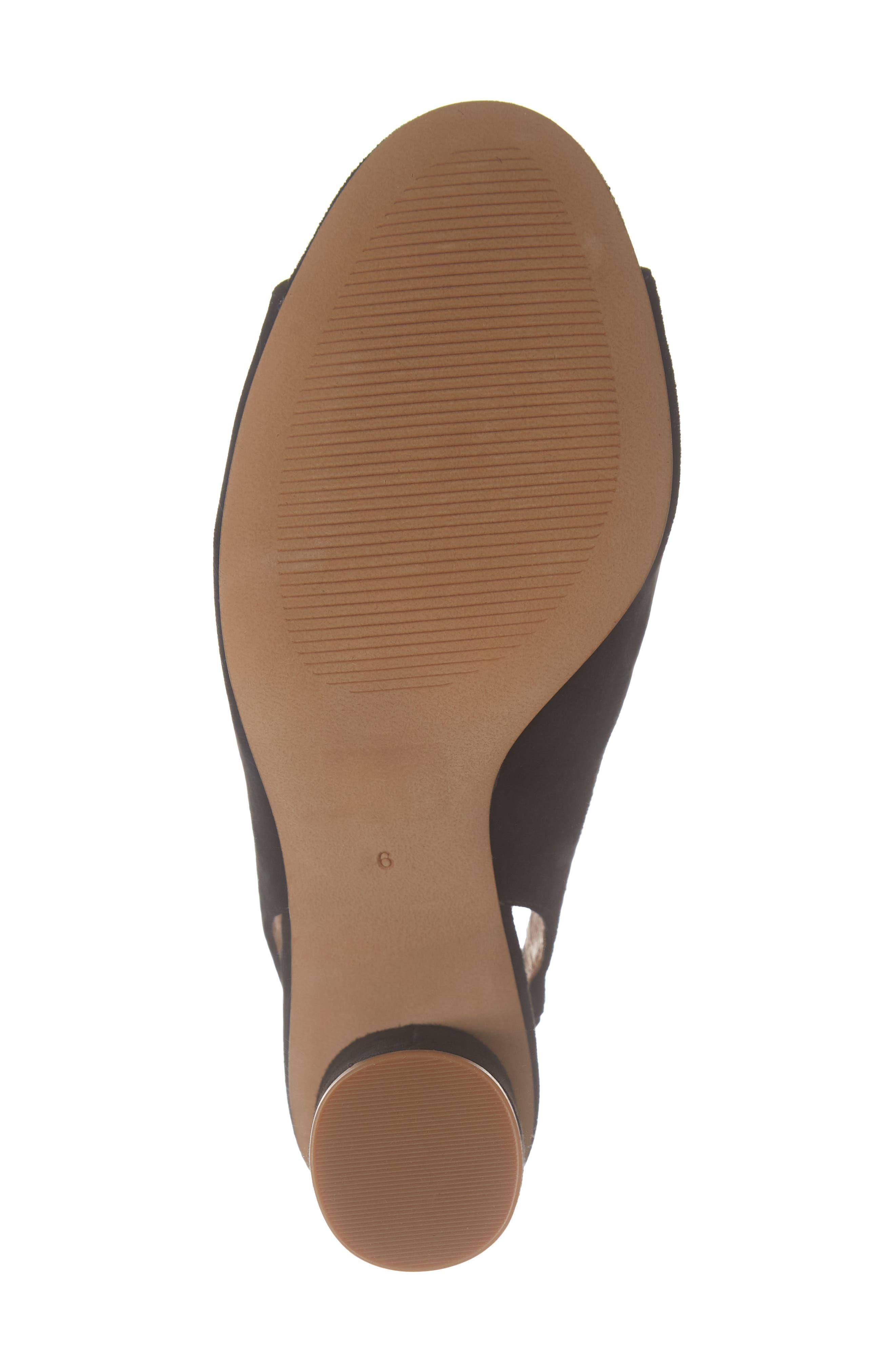 The Alana Slingback Sandal,                             Alternate thumbnail 6, color,                             TRUE BLACK SUEDE