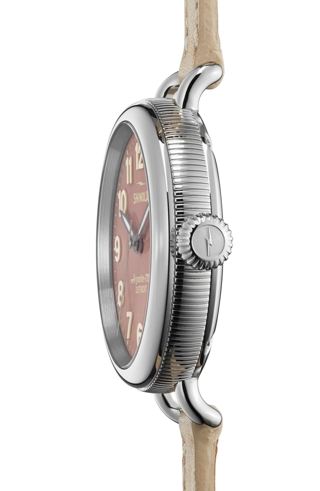 'The Birdy' Double Wrap Leather Strap Watch, 34mm,                             Alternate thumbnail 39, color,