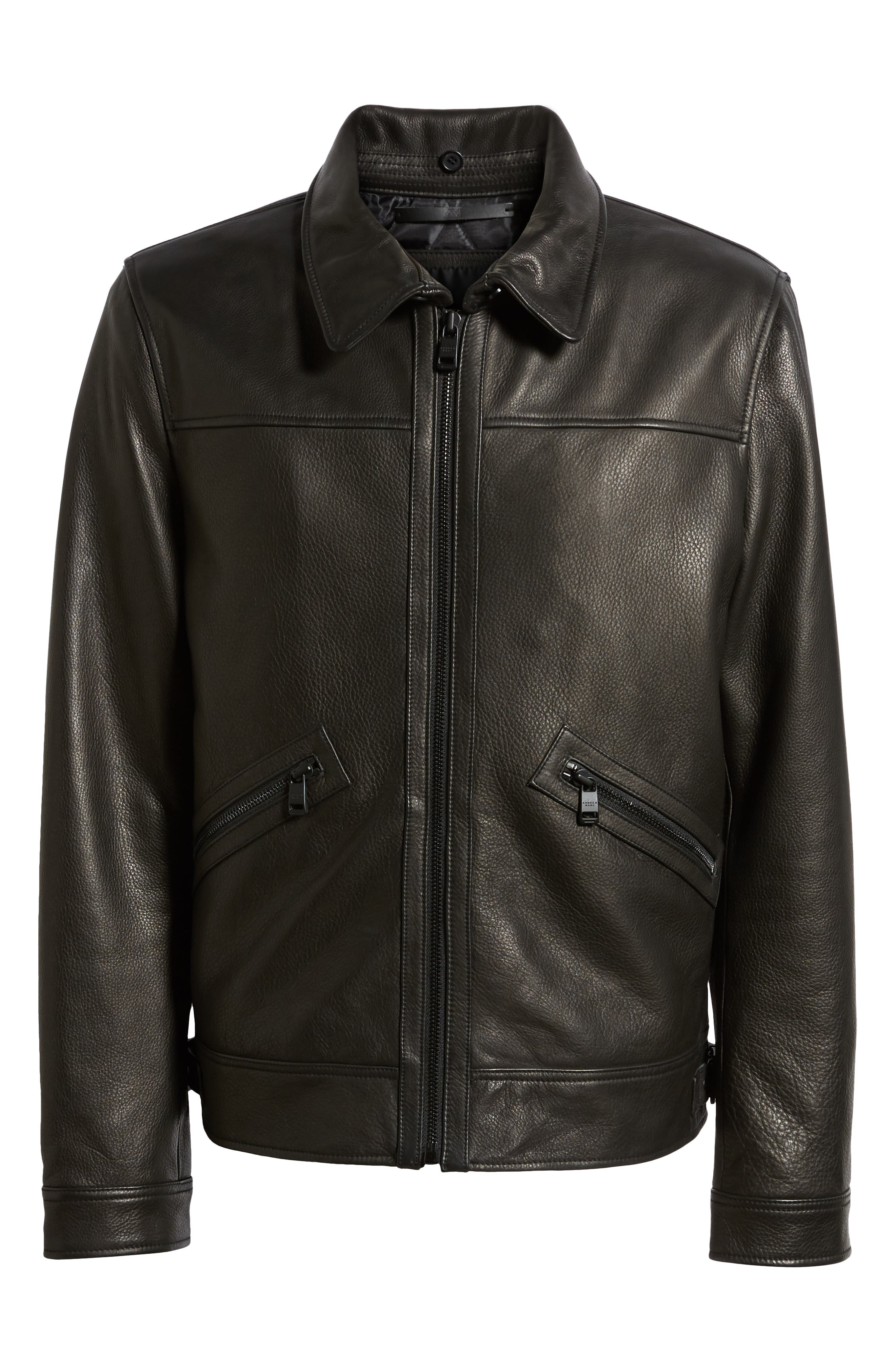 Kilmer Genuine Shearling Bomber Jacket,                             Alternate thumbnail 6, color,                             BLACK