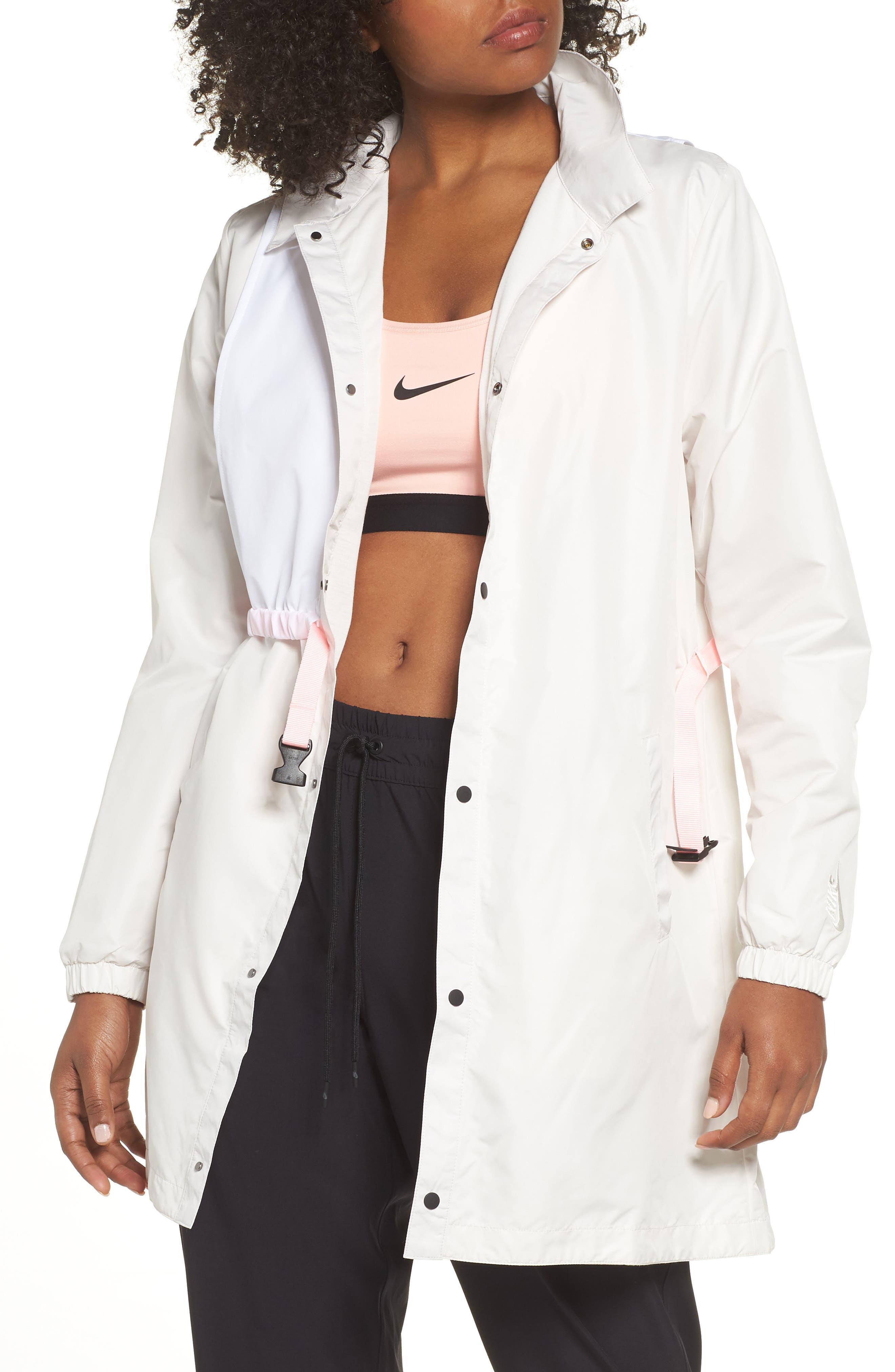 Hybrid Coaches Jacket/Dress,                             Main thumbnail 1, color,                             PHANTOM/ WHITE/ ARCTIC PUNCH
