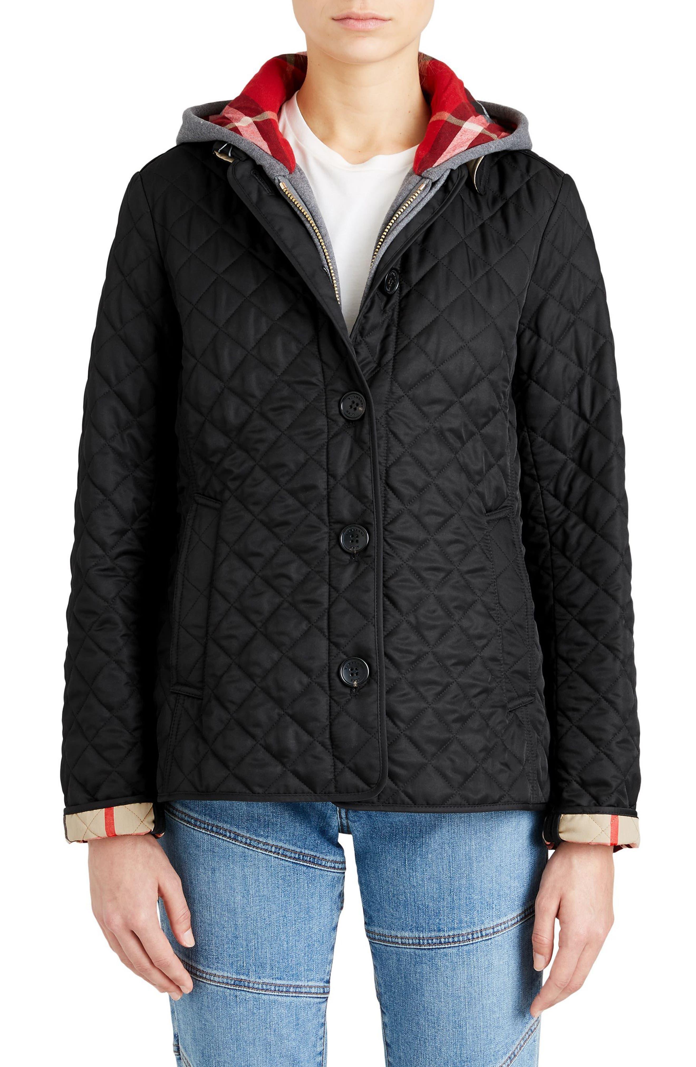 Ashurst Quilted Jacket,                             Main thumbnail 1, color,                             BLACK