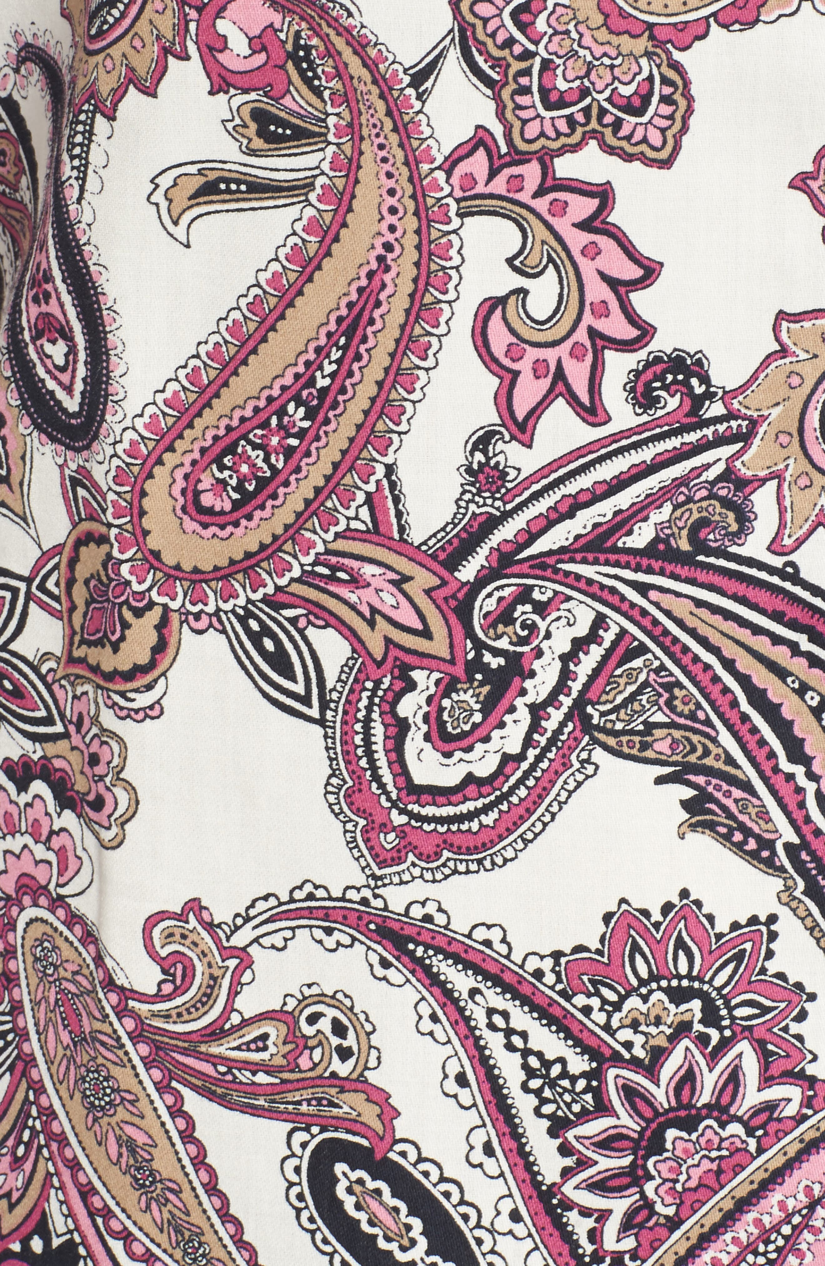 Mary Paisley Wrinkle Free Shirt,                             Alternate thumbnail 5, color,                             935