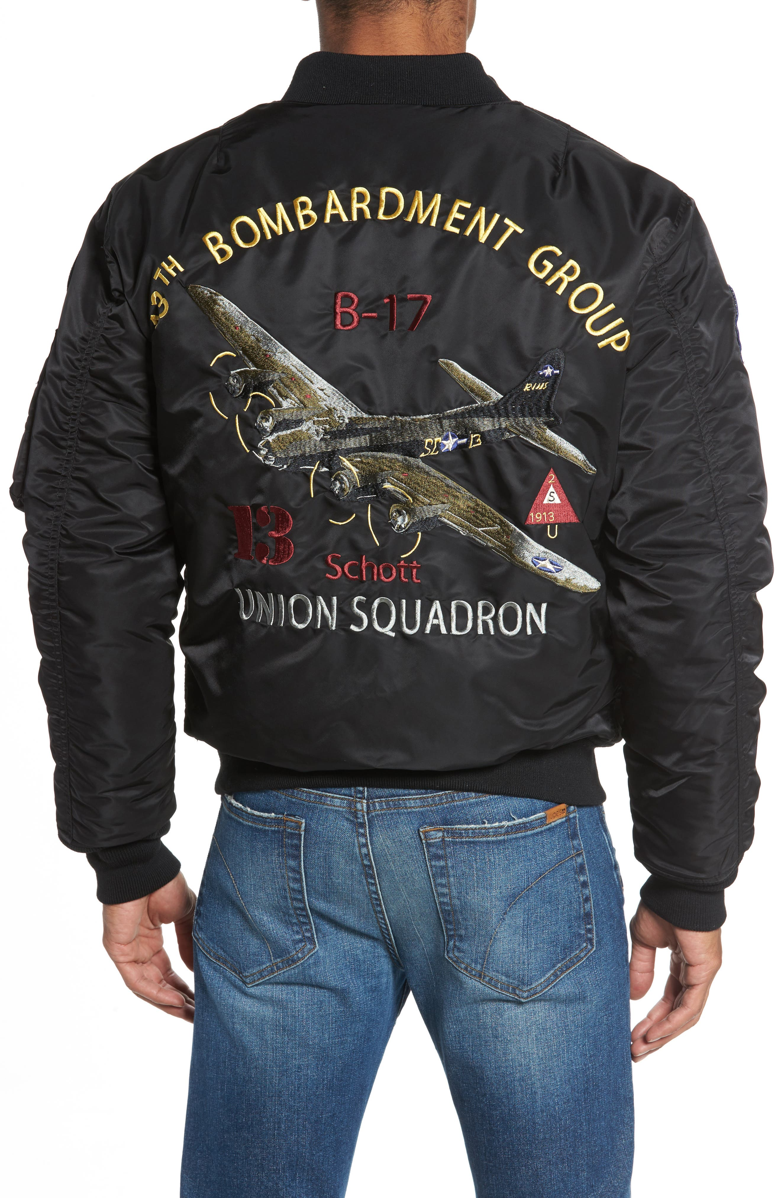 Highly Decorated Embroidered Flight Jacket,                             Alternate thumbnail 2, color,                             001