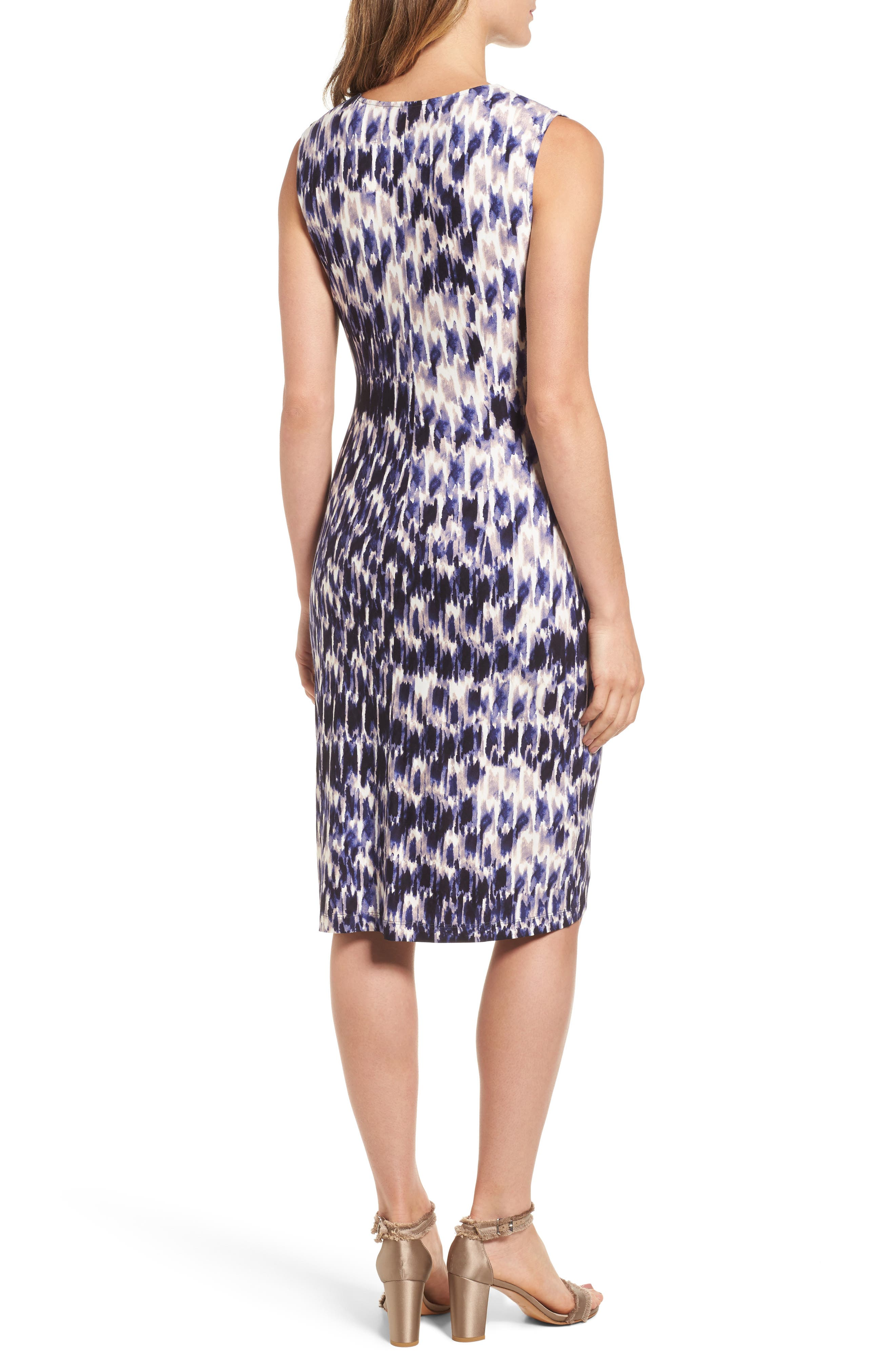 Lotus Side Twist Sheath Dress,                             Alternate thumbnail 2, color,
