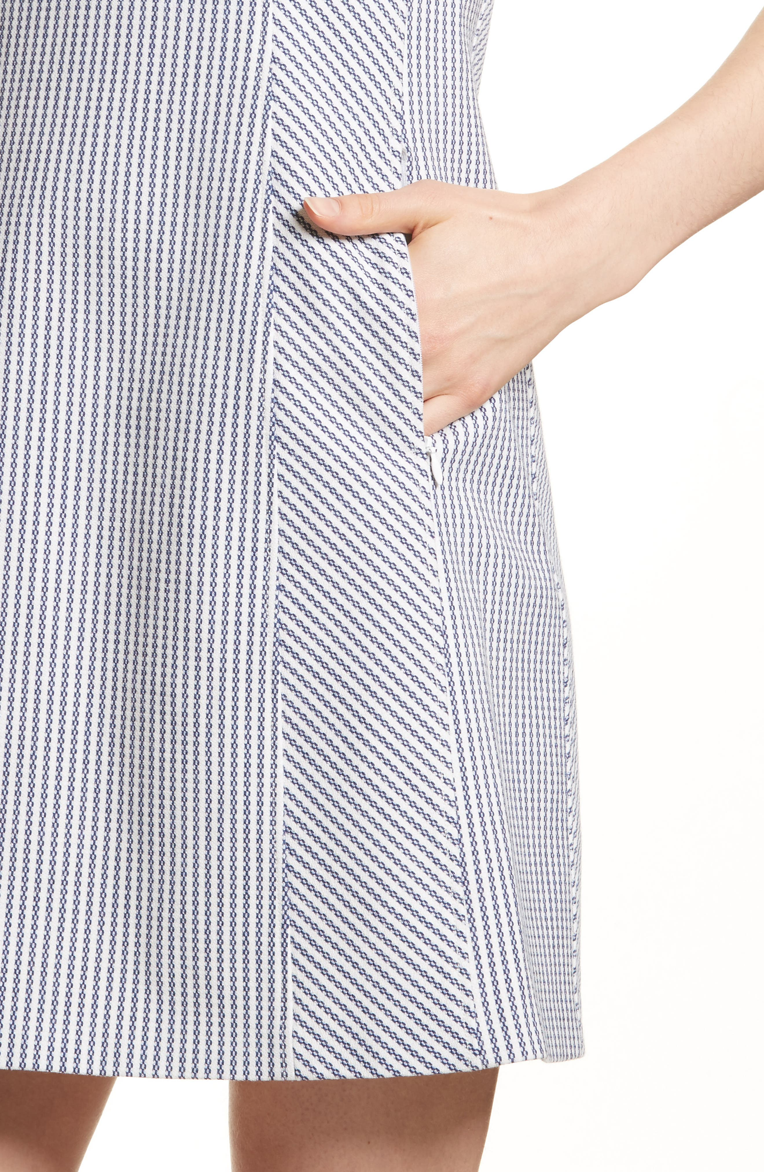 Helaina Sayre Stripe A-Line Dress,                             Alternate thumbnail 4, color,
