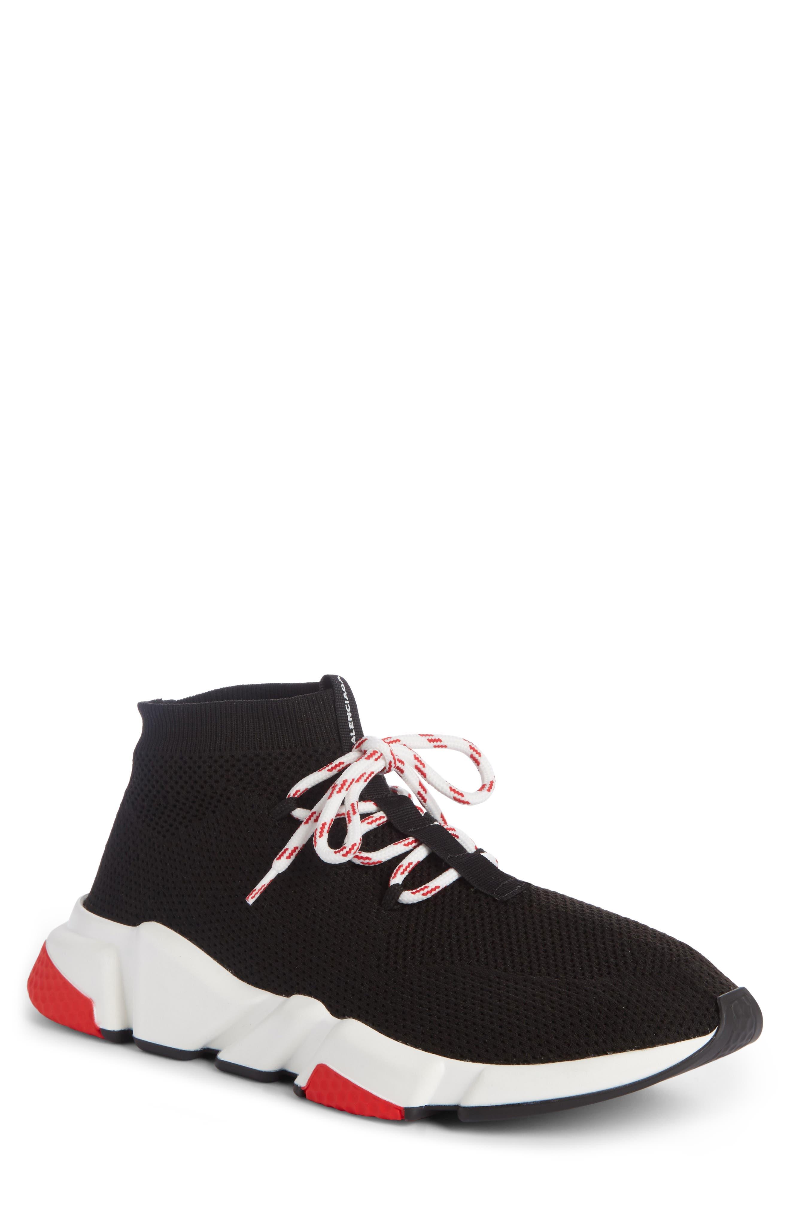 Mid-Top Sneaker,                             Main thumbnail 1, color,                             NOIR