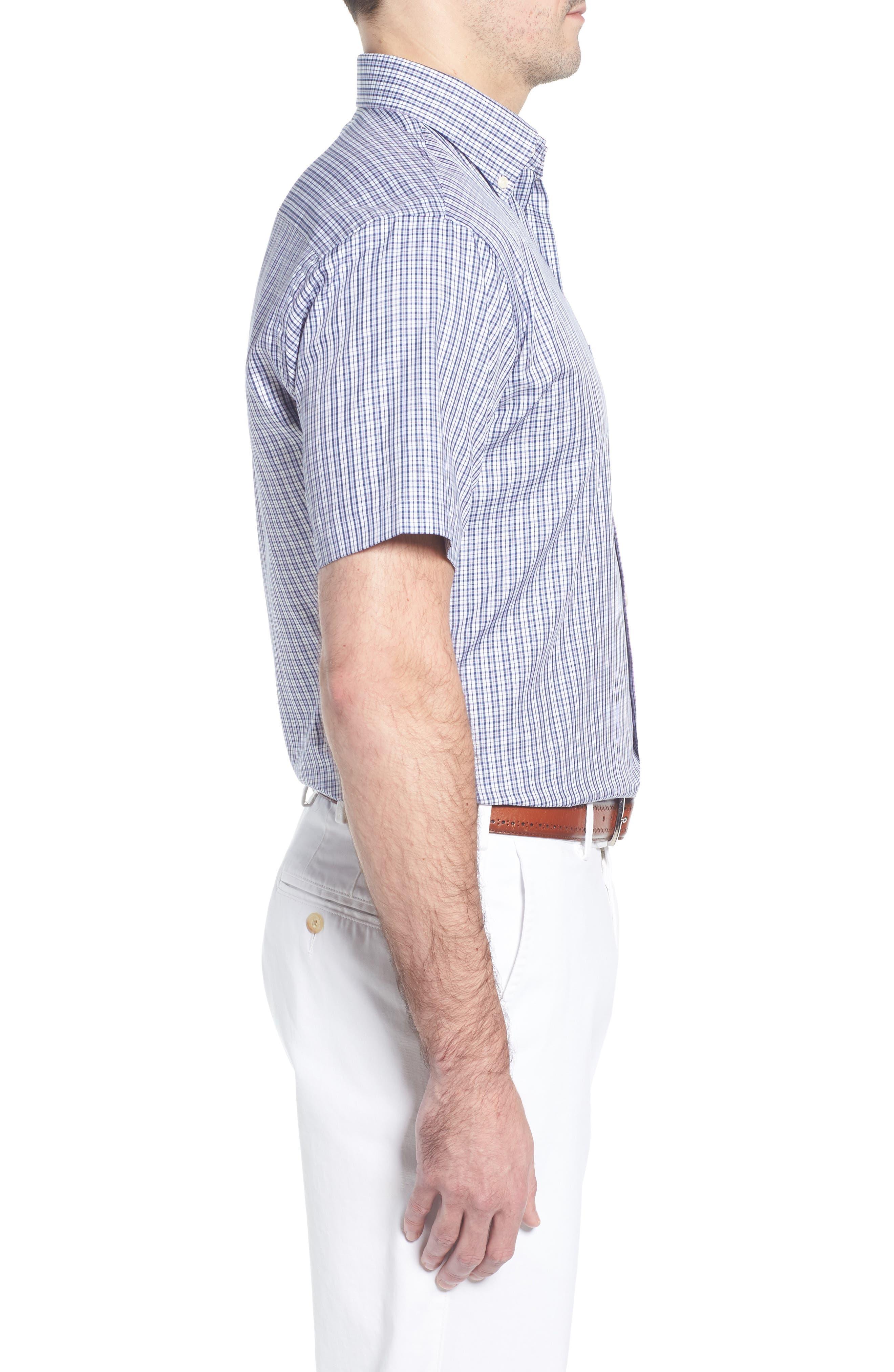 Crown Soft Carlsplaid Regular Fit Sport Shirt,                             Alternate thumbnail 3, color,                             412