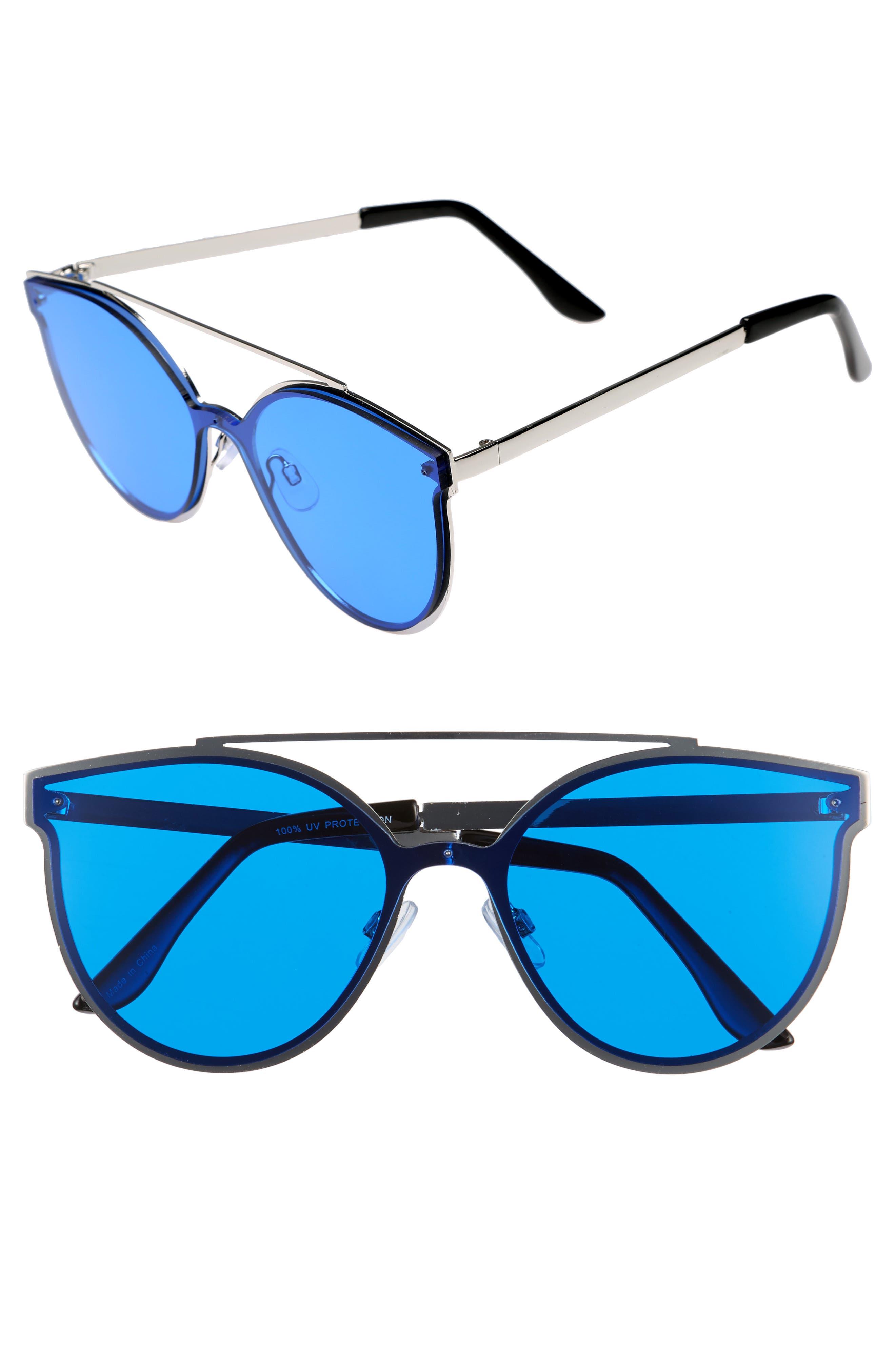 58mm Brow Bar Sunglasses,                             Main thumbnail 1, color,                             400