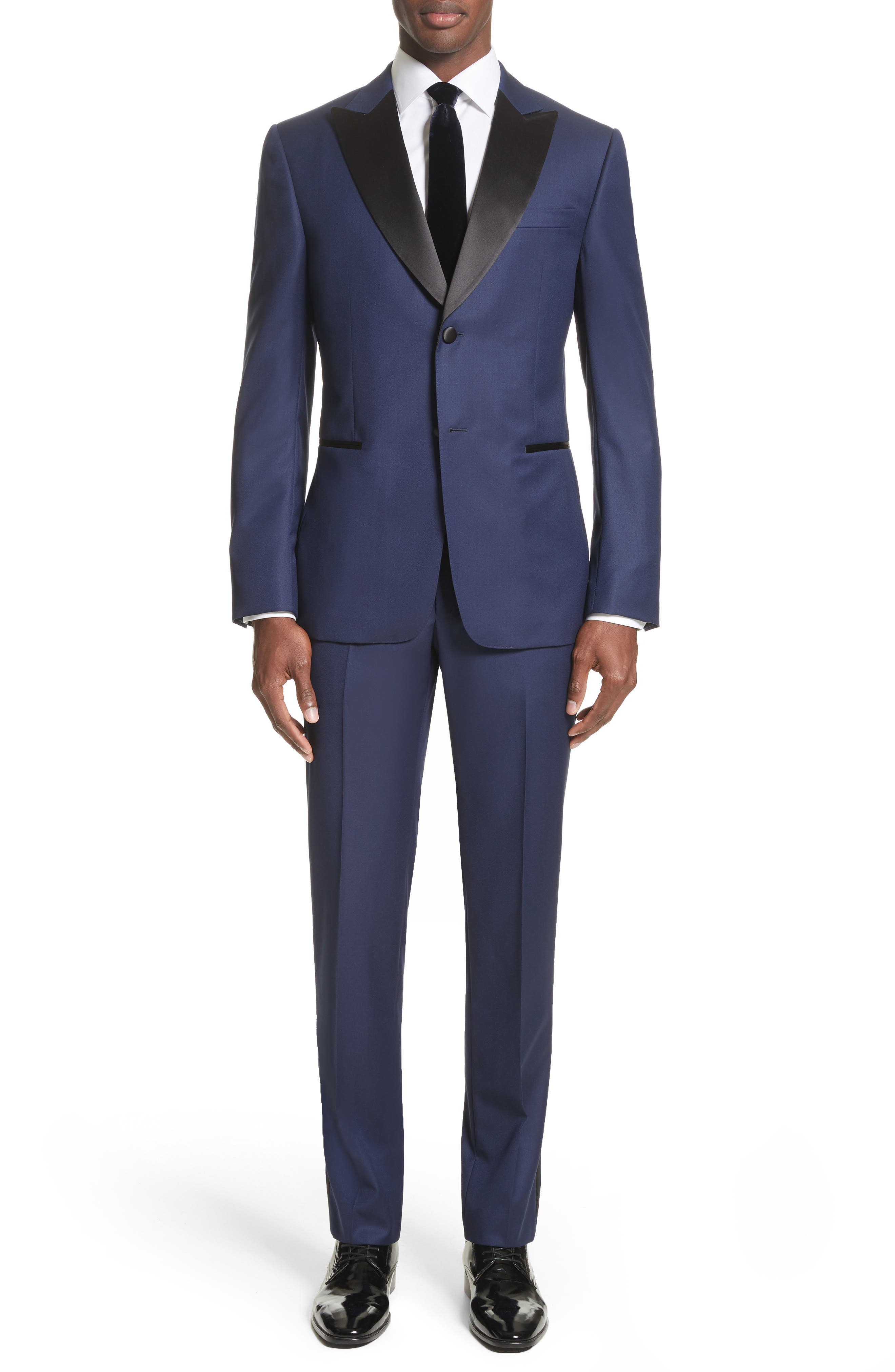 Slim Fit Wool Tuxedo,                             Main thumbnail 1, color,                             412