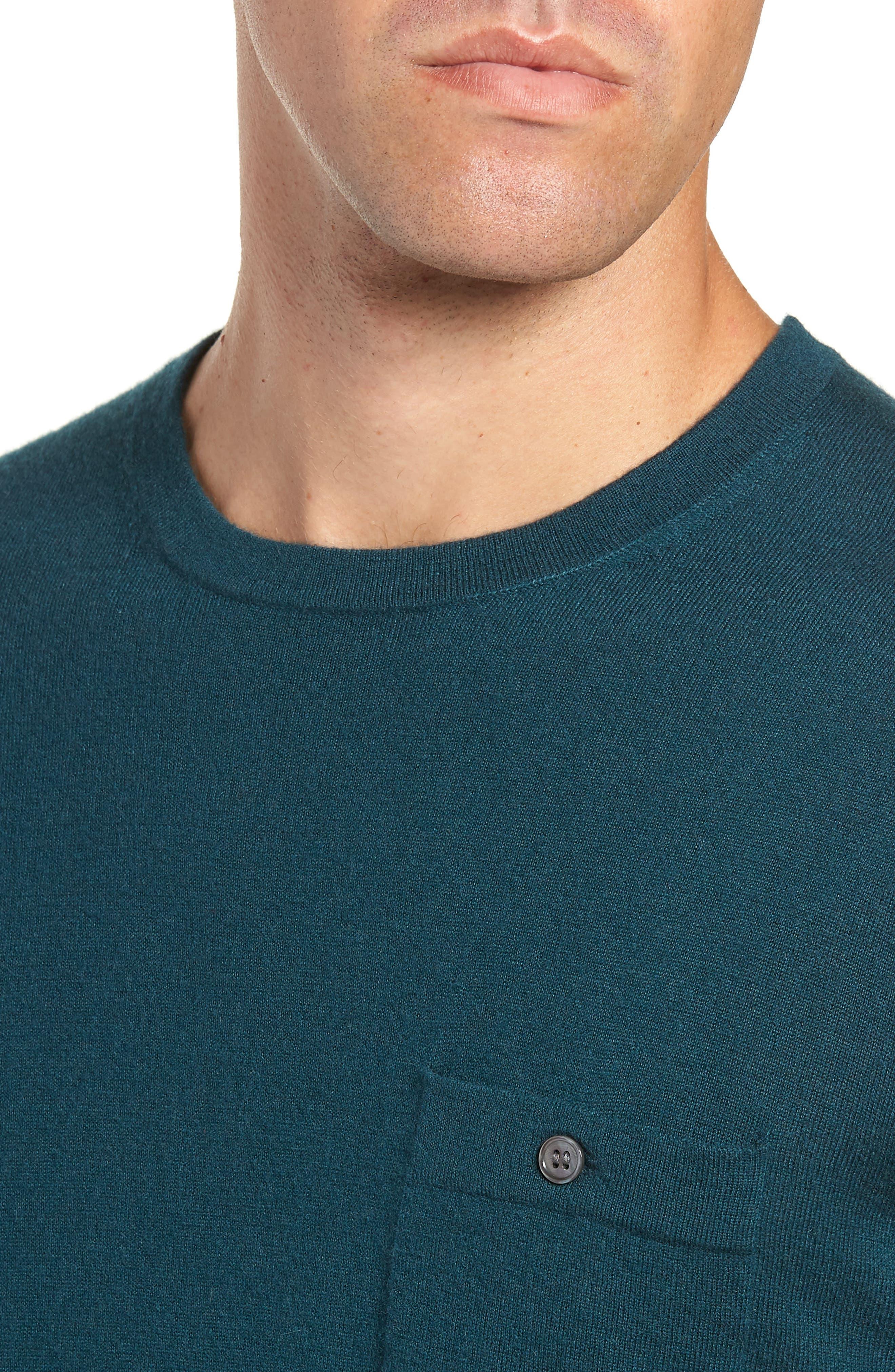 Cashmere Sweater,                             Alternate thumbnail 4, color,                             PETROL