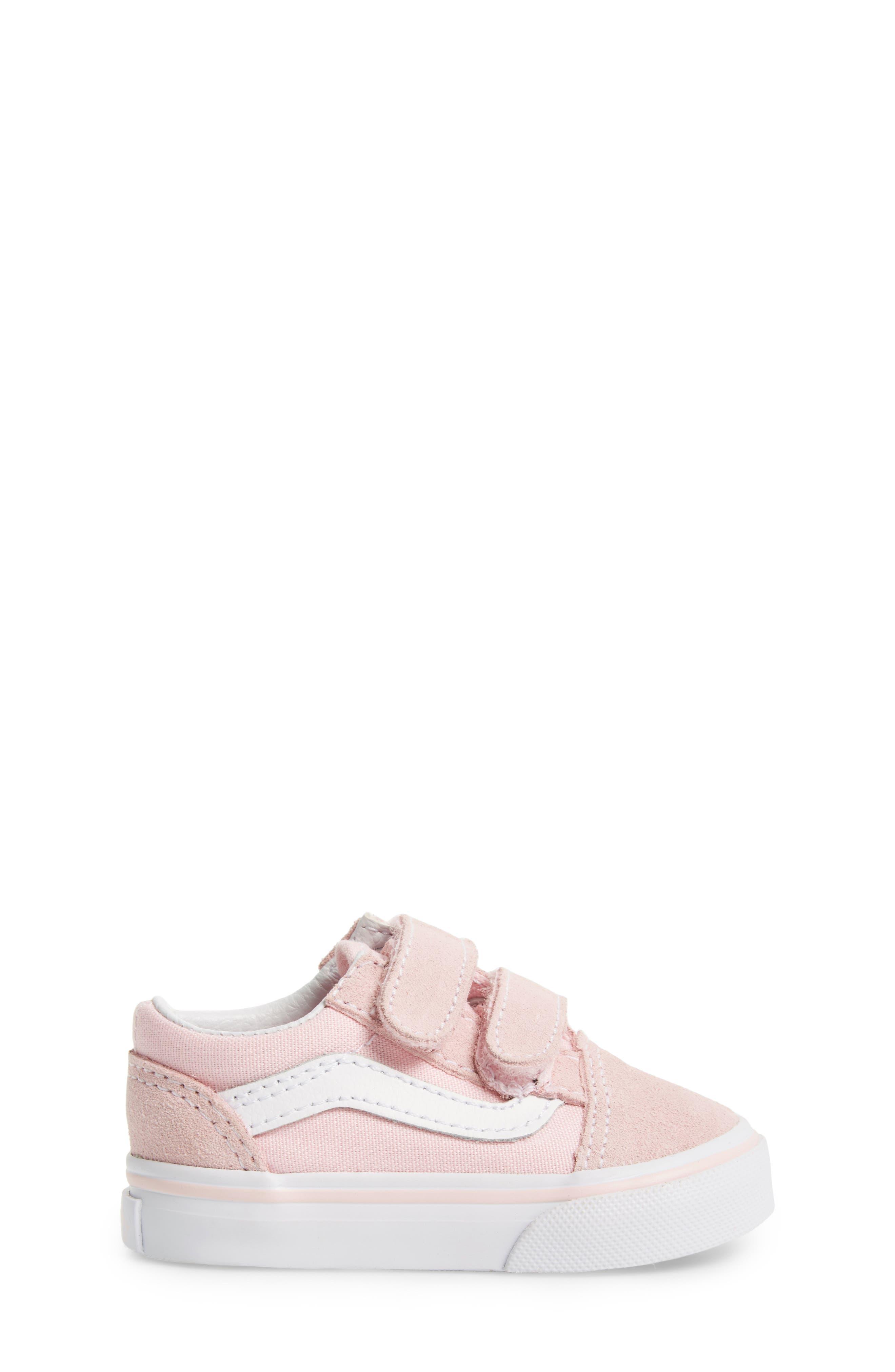 'Old Skool V' Sneaker,                             Alternate thumbnail 3, color,                             CHALK PINK/ TRUE WHITE