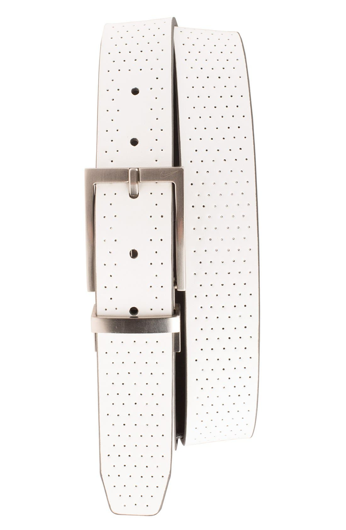 Reversible Leather Belt,                             Alternate thumbnail 5, color,