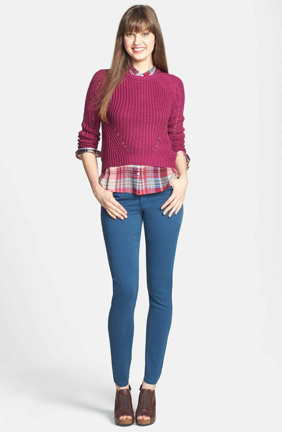 Alina Colored Stretch Skinny Jeans,                             Alternate thumbnail 117, color,