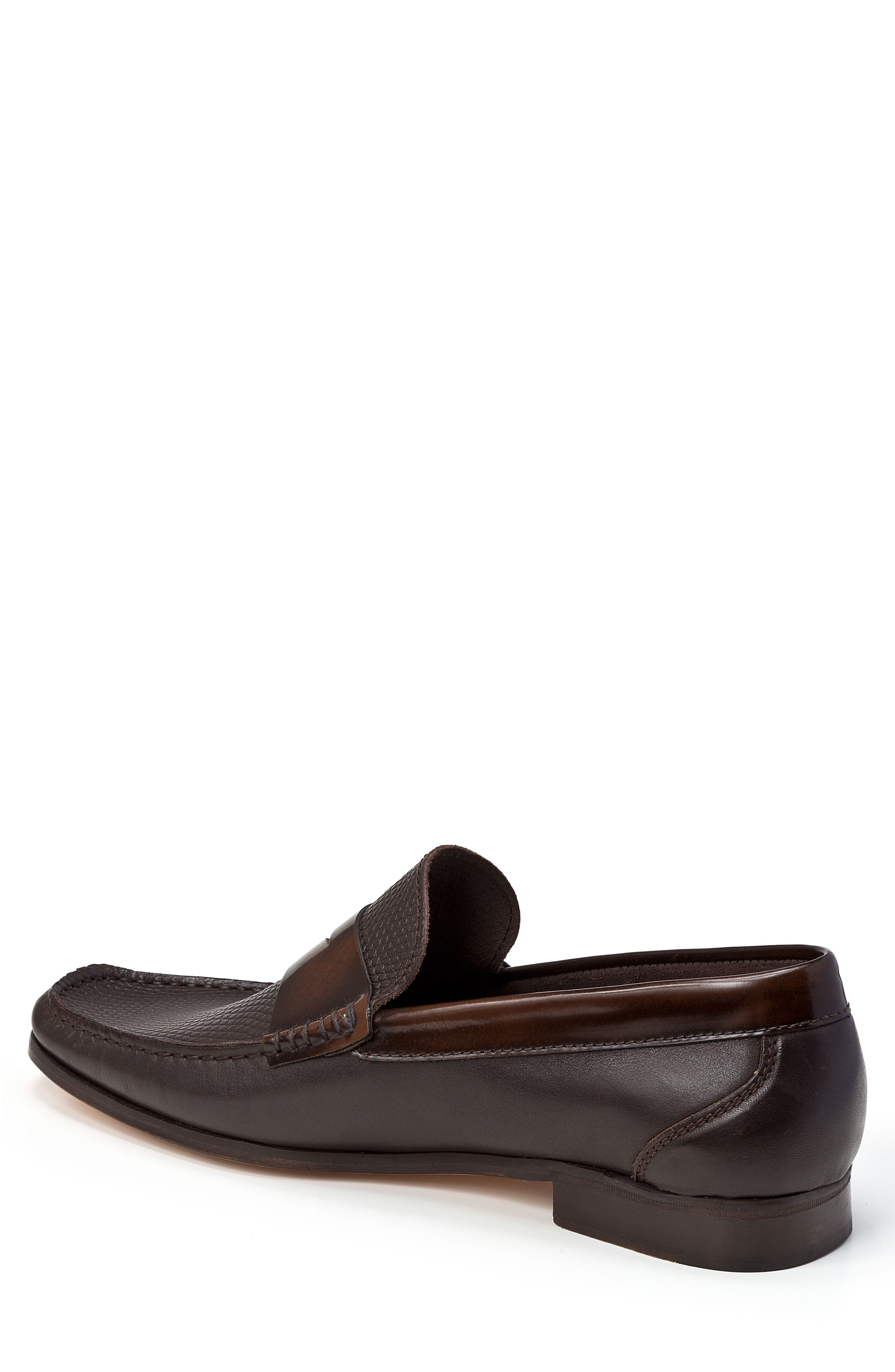 Bilbao Pebble Embossed Penny Loafer,                             Alternate thumbnail 2, color,                             BROWN