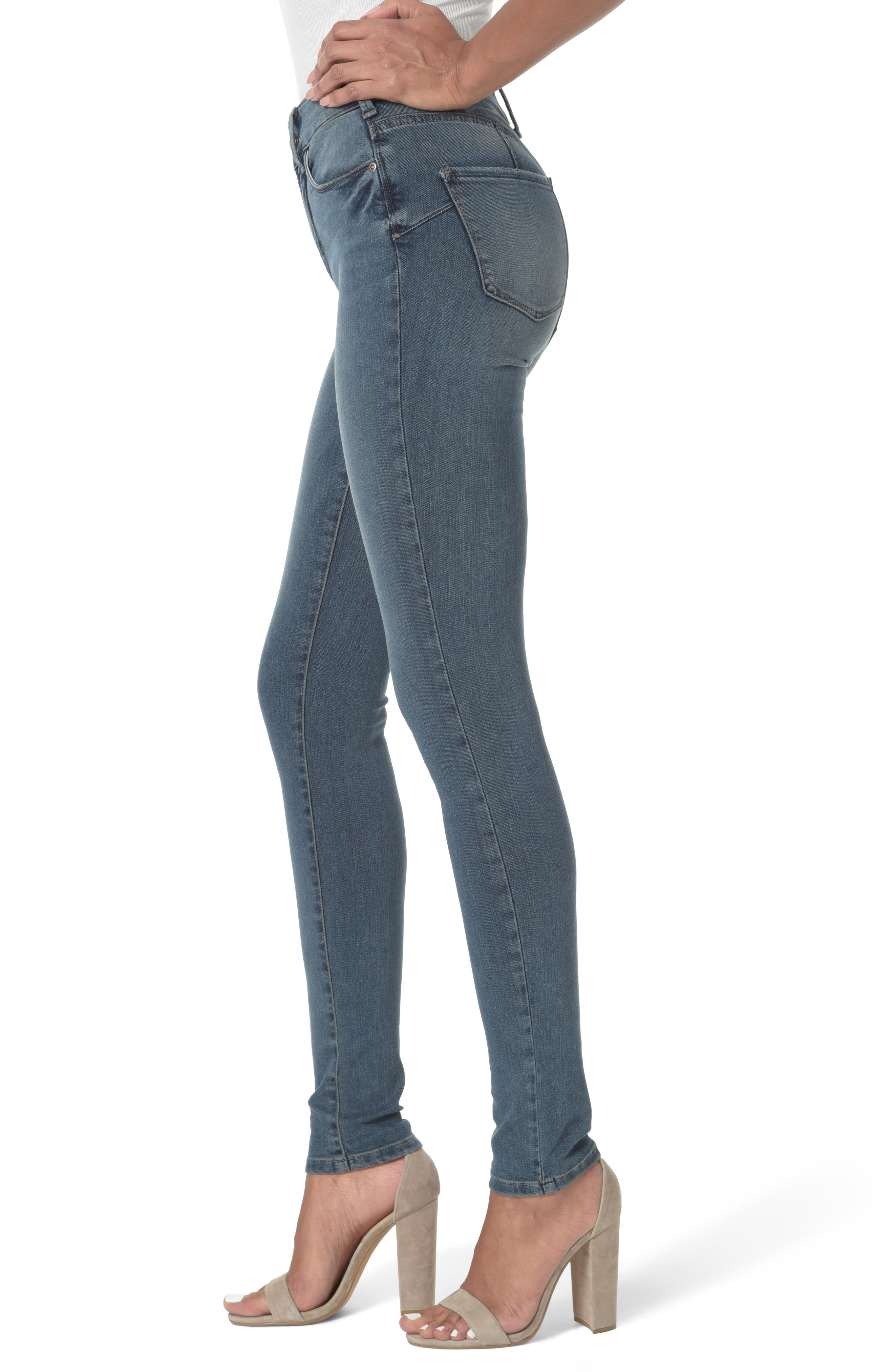 Alina Uplift Stretch Skinny Jeans,                             Alternate thumbnail 3, color,                             403