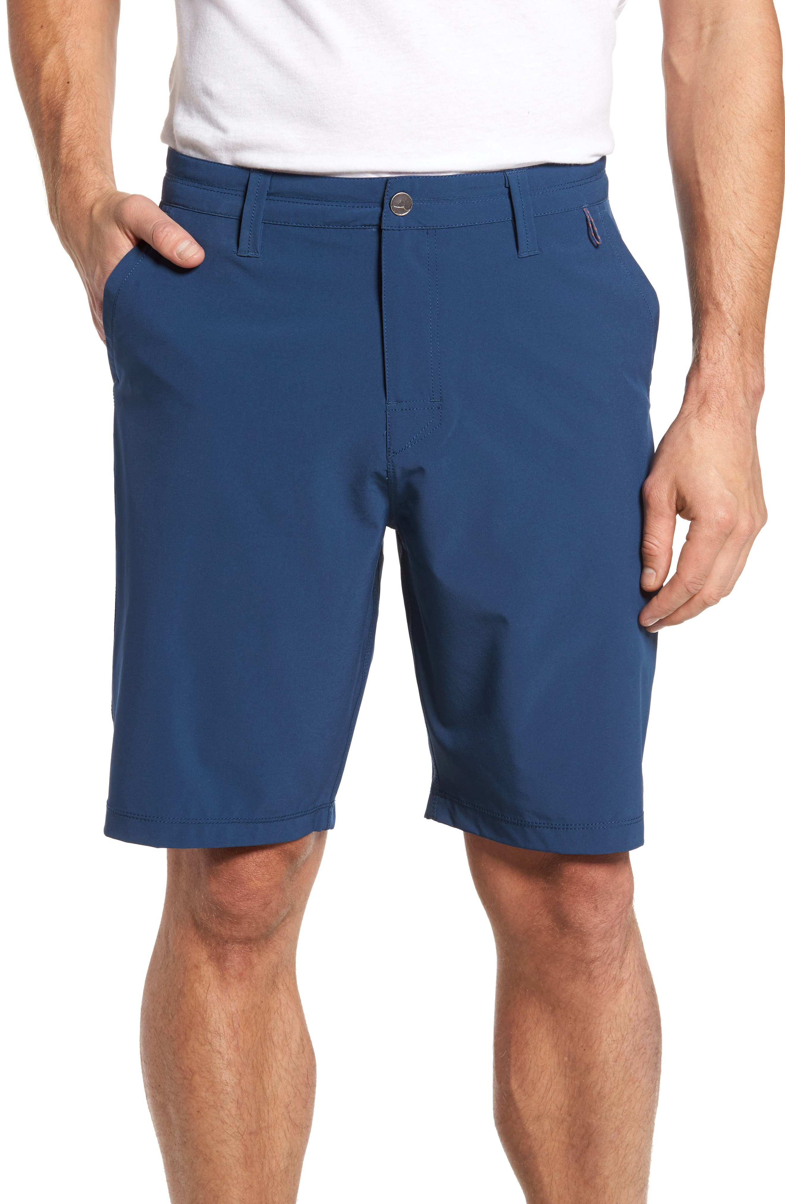 Coast Regular Fit Hybrid Shorts,                         Main,                         color, DEEP SEA