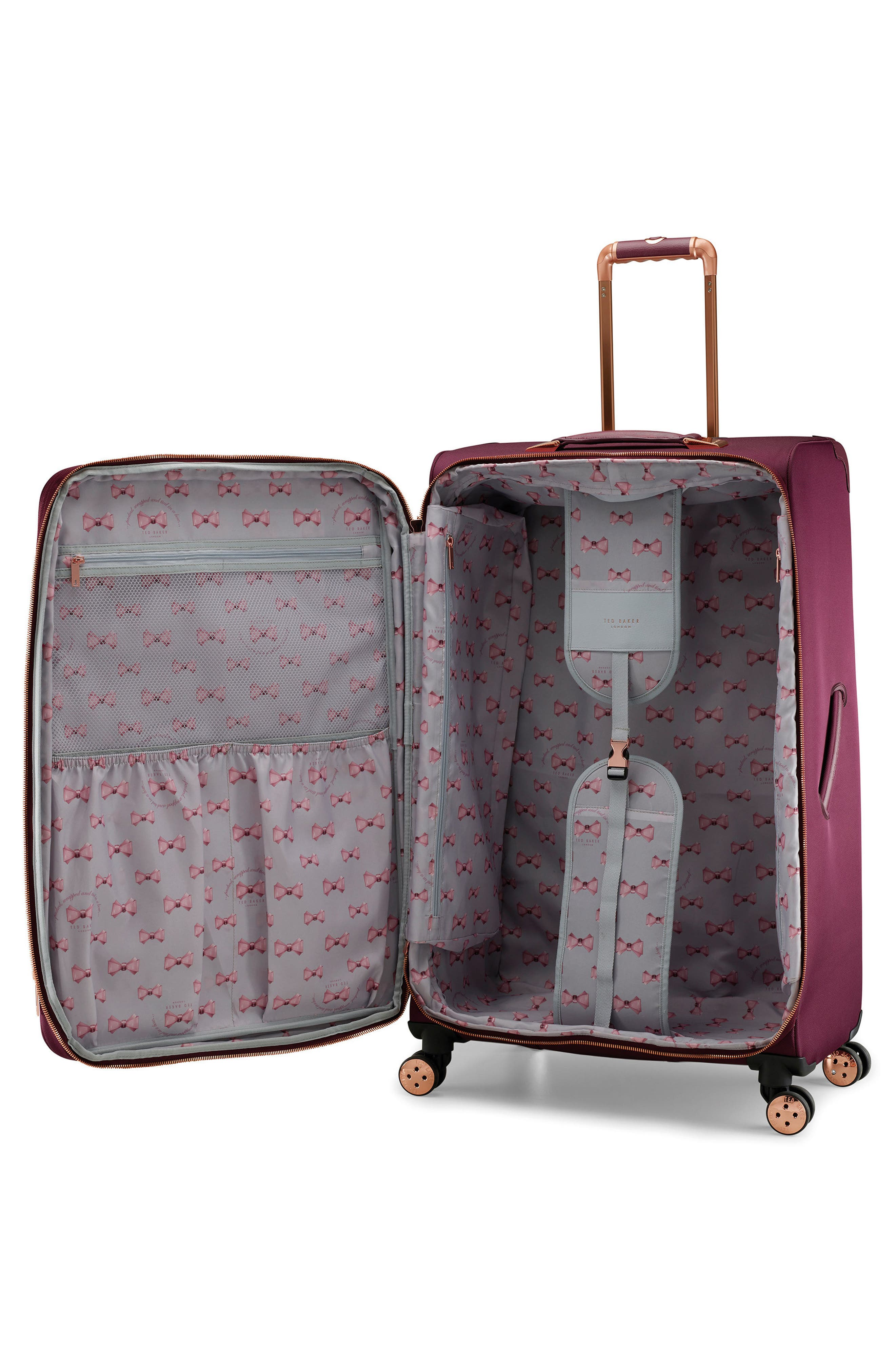 33-Inch Spinner Trolley Packing Case,                             Alternate thumbnail 2, color,                             BURGUNDY