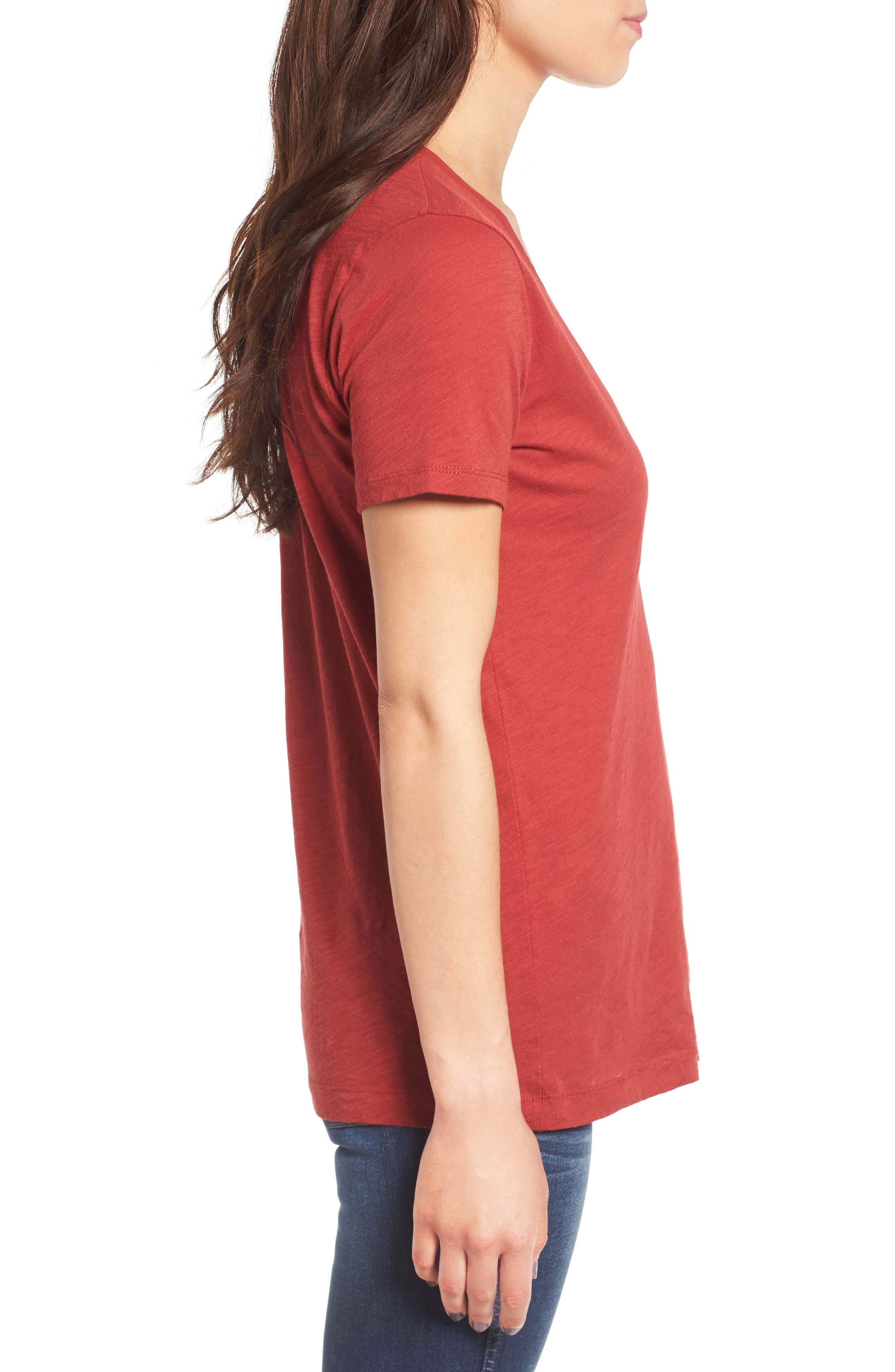 Whisper Cotton V-Neck Pocket Tee,                             Alternate thumbnail 127, color,