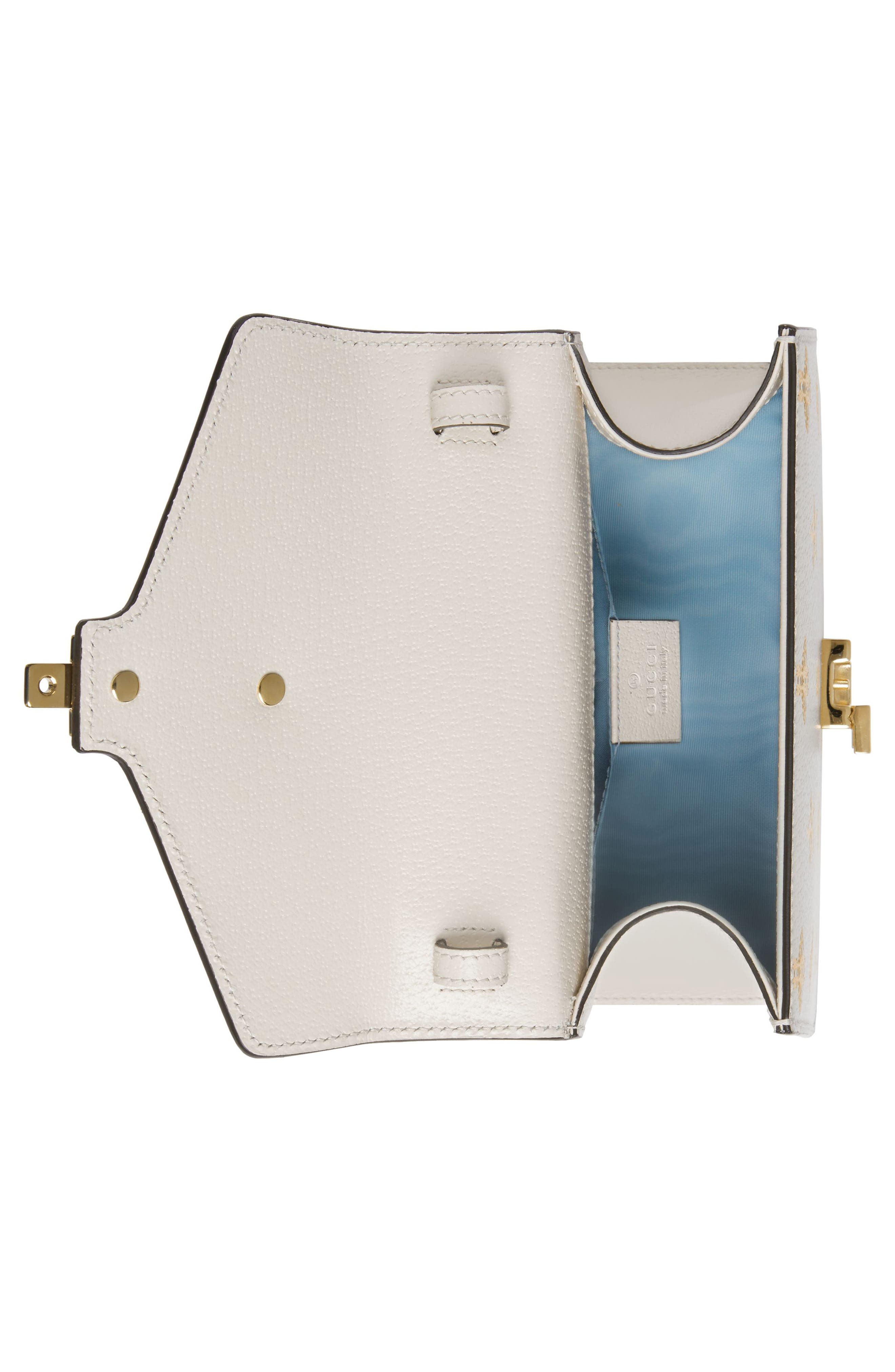 Small Sylvie Top Handle Leather Shoulder Bag,                             Alternate thumbnail 3, color,                             MYSTIC WHITE/ ORO/ BLUE/ RED