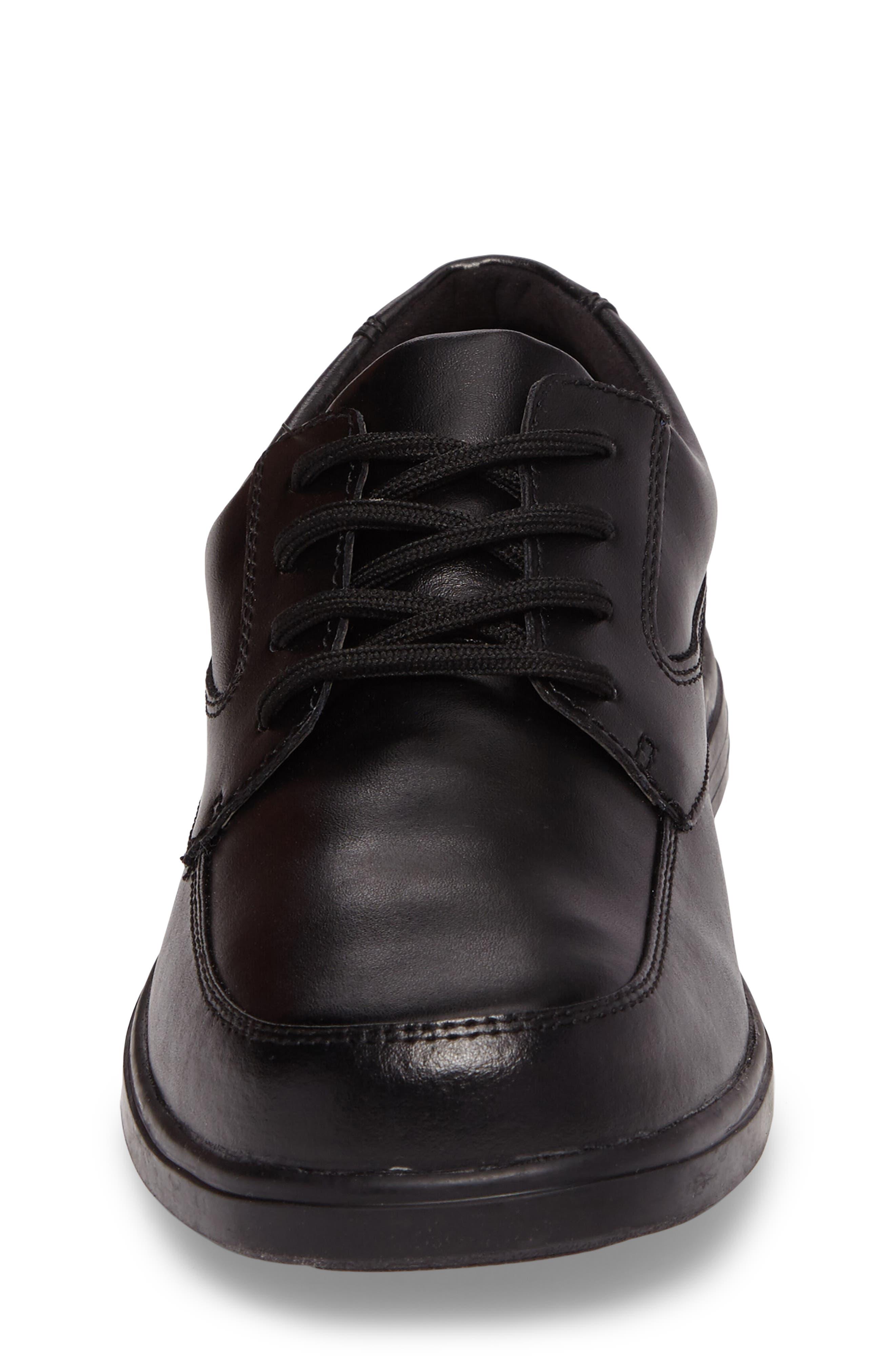 Ty Dress Shoe,                             Alternate thumbnail 4, color,                             BLACK LEATHER