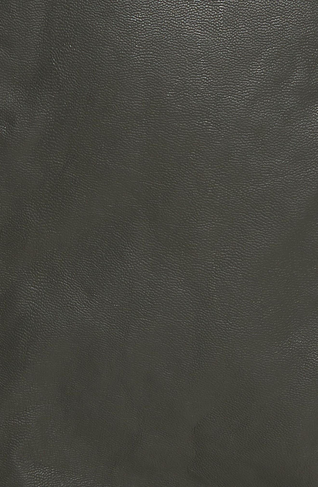 Modern Femme Faux Leather Miniskirt,                             Alternate thumbnail 5, color,                             300