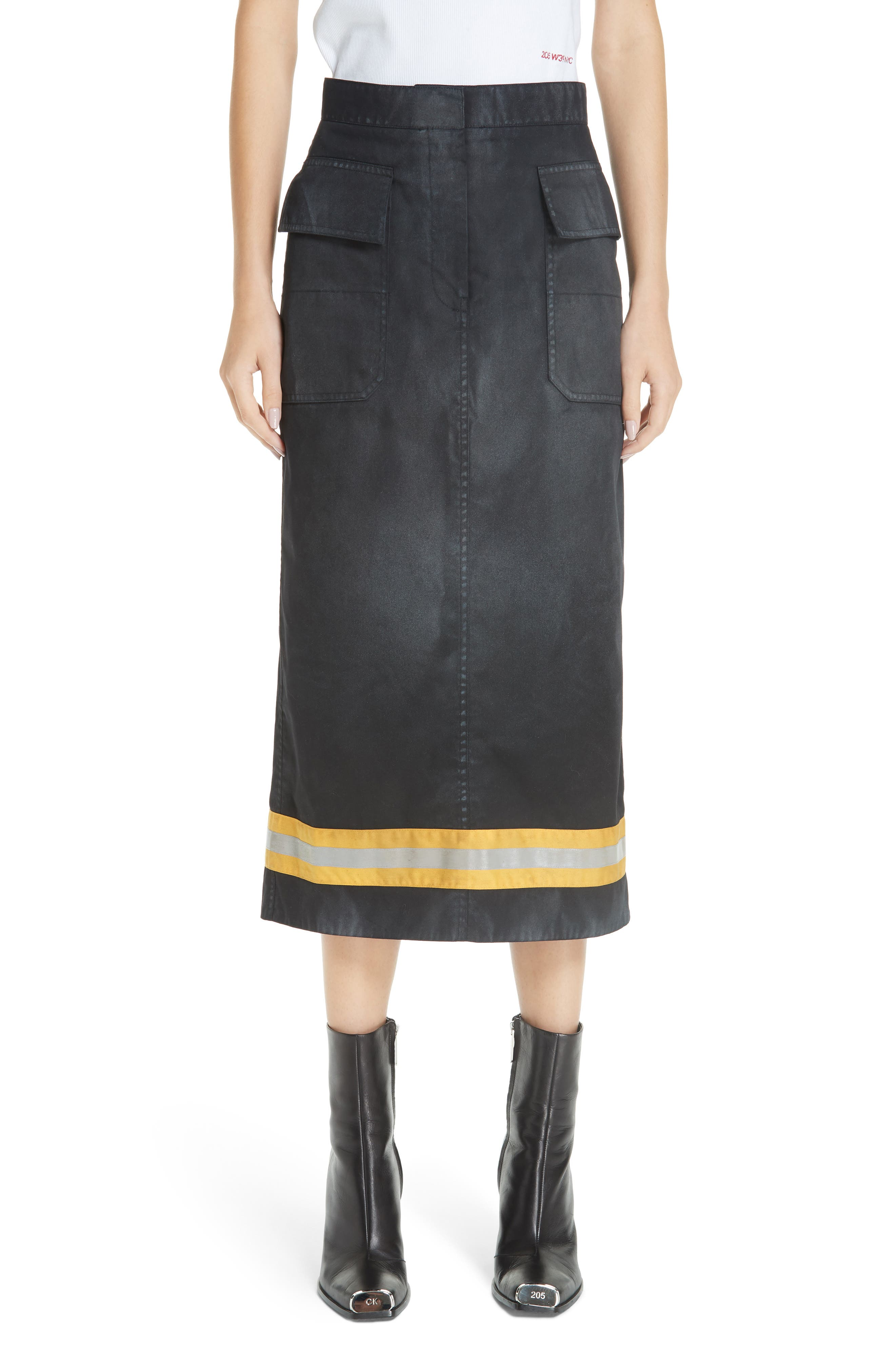 Fireman Skirt,                         Main,                         color, BLACK