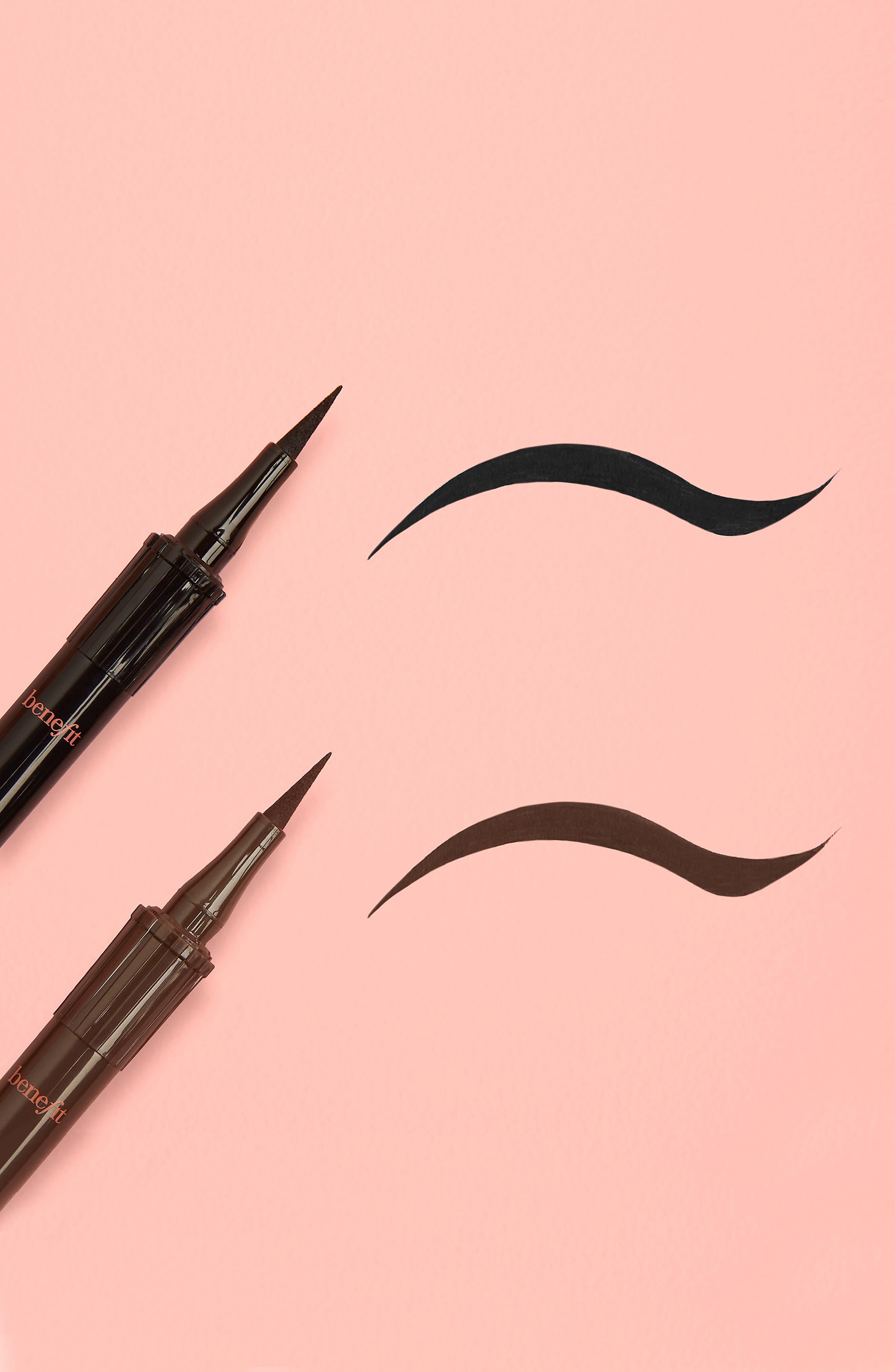 Benefit Roller Liner Matte Liquid Eyeliner,                             Alternate thumbnail 3, color,                             BLACK
