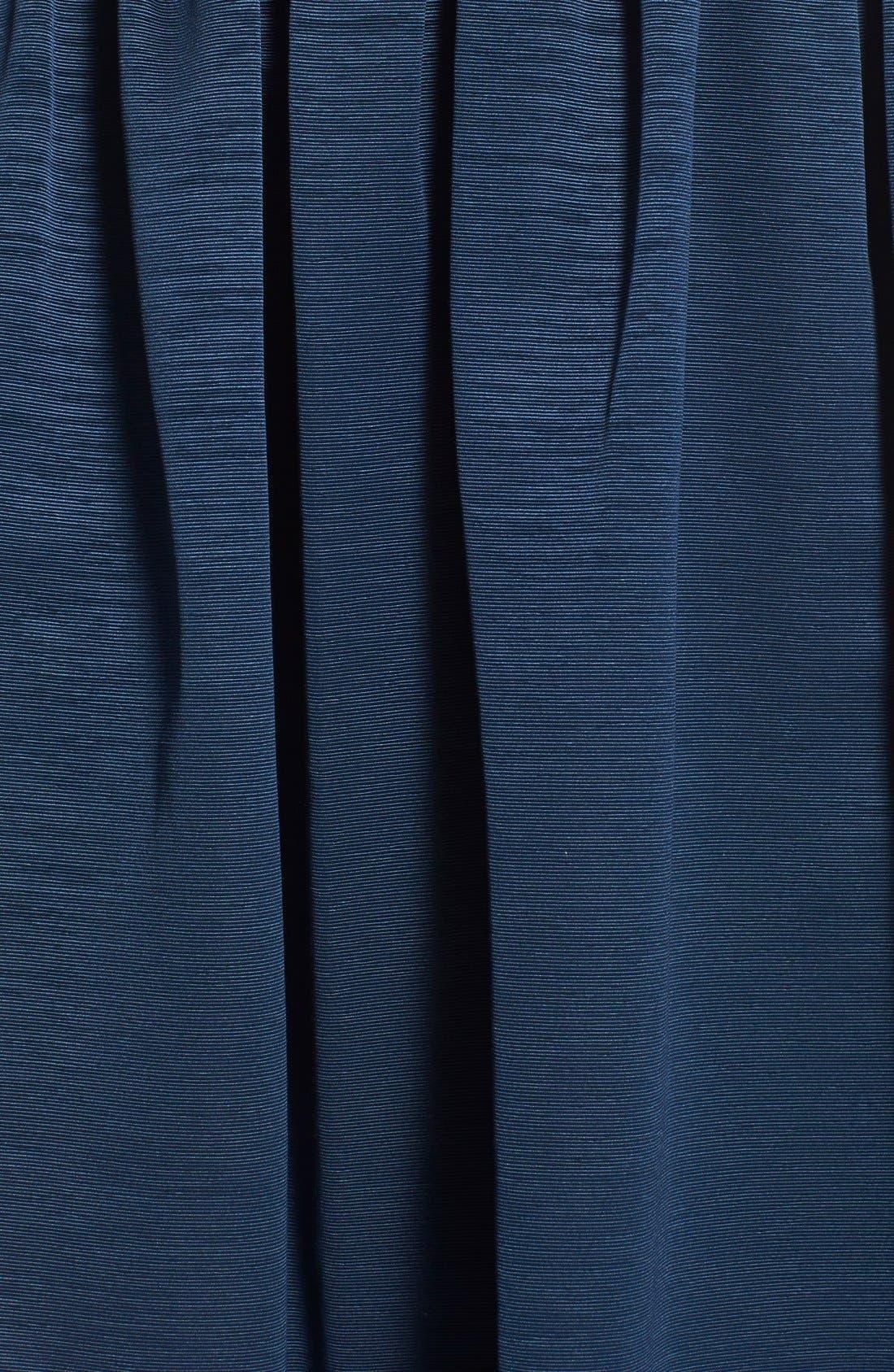Dot Mesh Bodice Fit & Flare Dress,                             Alternate thumbnail 13, color,
