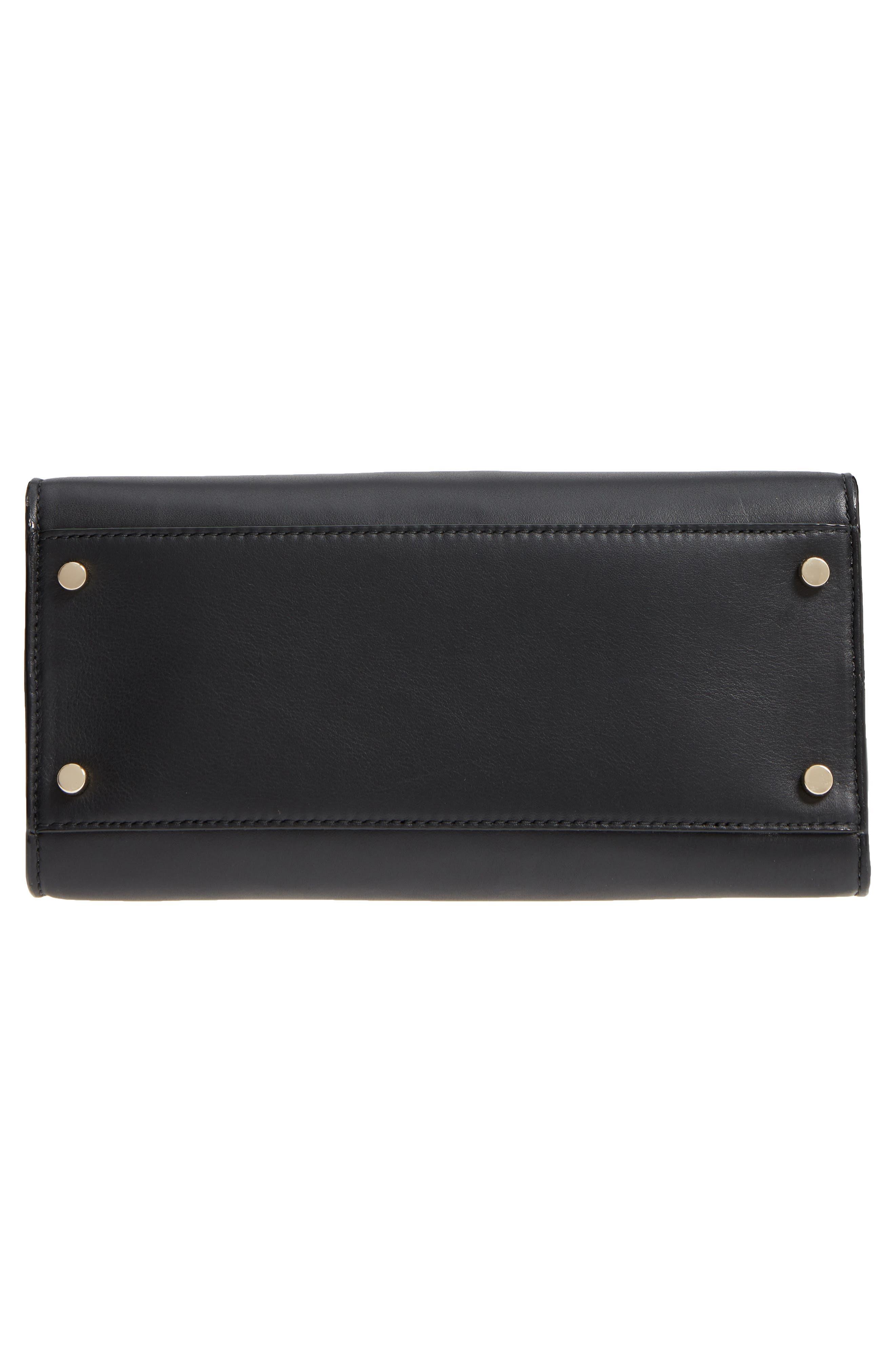 KATE SPADE NEW YORK,                             white rock road - sam leather satchel,                             Alternate thumbnail 6, color,                             001