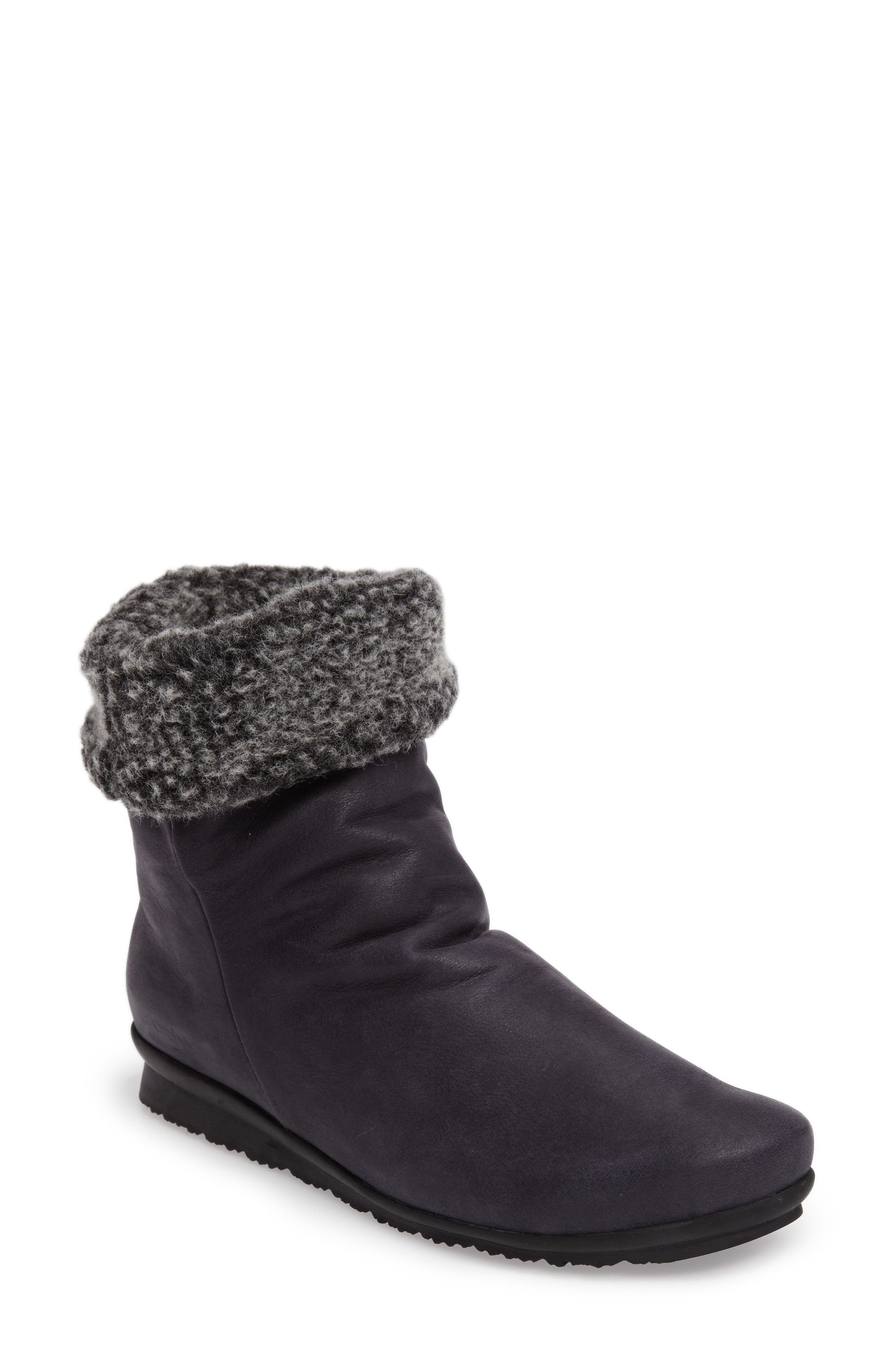 Barosa Faux Shearling Cuffed Bootie,                         Main,                         color, 071