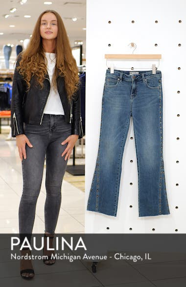 We the Free by Free People Studded Crop Flare Jeans, sales video thumbnail