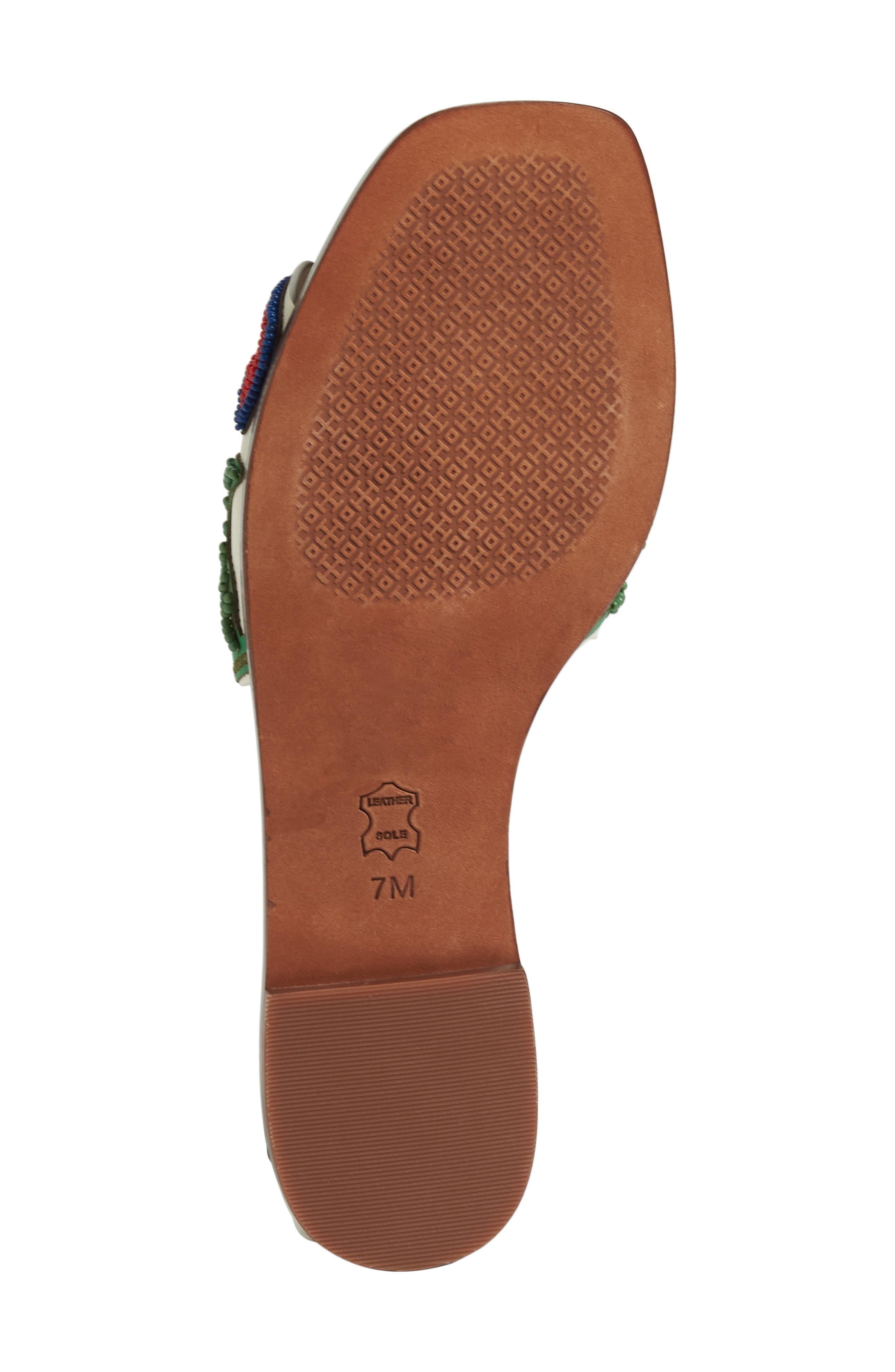 TORY BURCH,                             Bianca Floral Embellished Slide Sandal,                             Alternate thumbnail 6, color,                             900