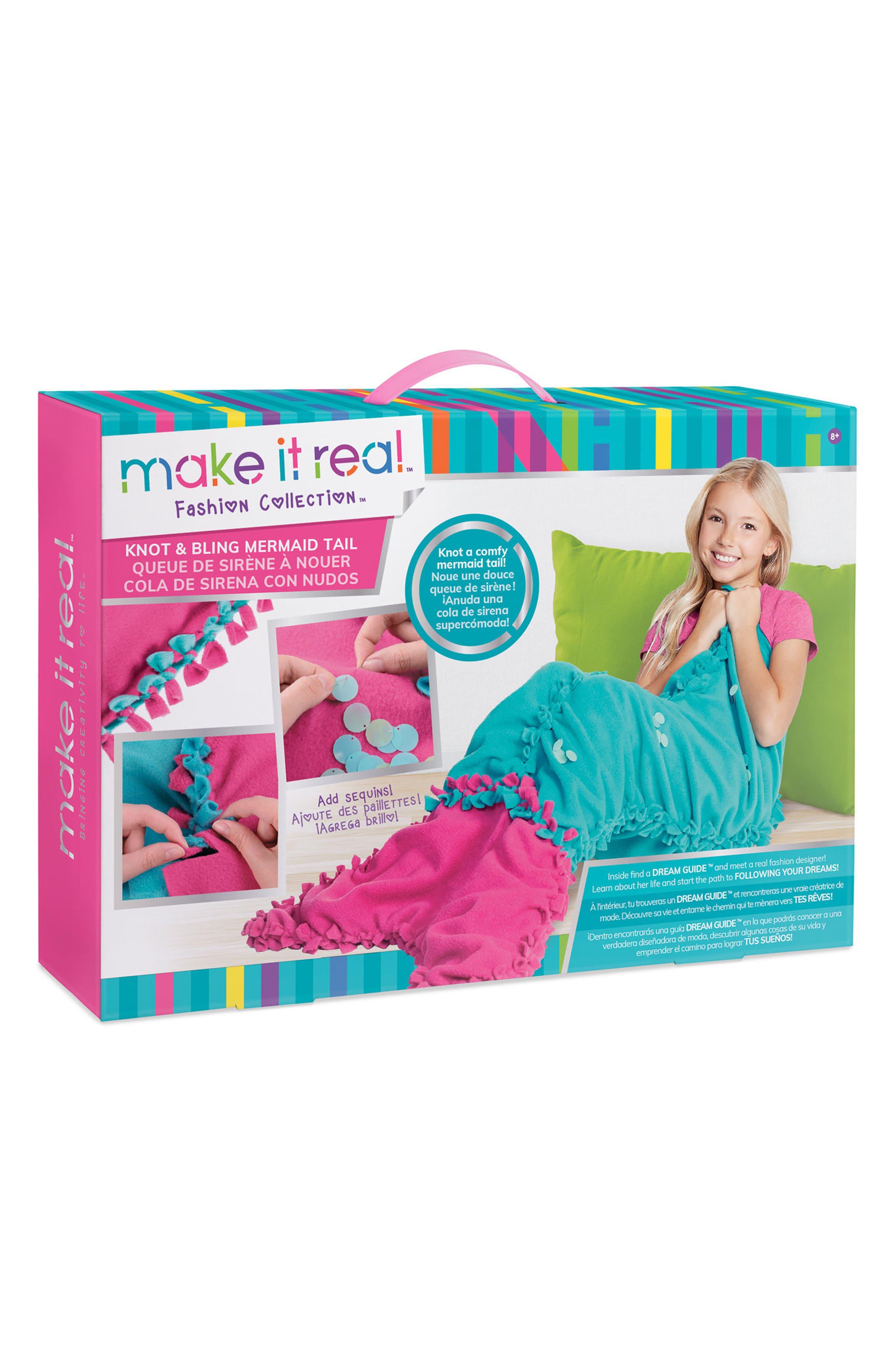Knot & Bling Mermaid Tail Kit, Main, color, 650